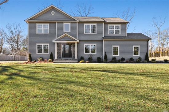 Immediate Occupancy!! Easy Access To Parkways!! Flat 2/3 Acre, Hardwood Floors Up And Down, Huge Basement W/Ose. Side Entry Garage, Quality Construction. December Occupancy!! Open Floor Plan, Gas Heat. A Must See In Kings Park Schools!!