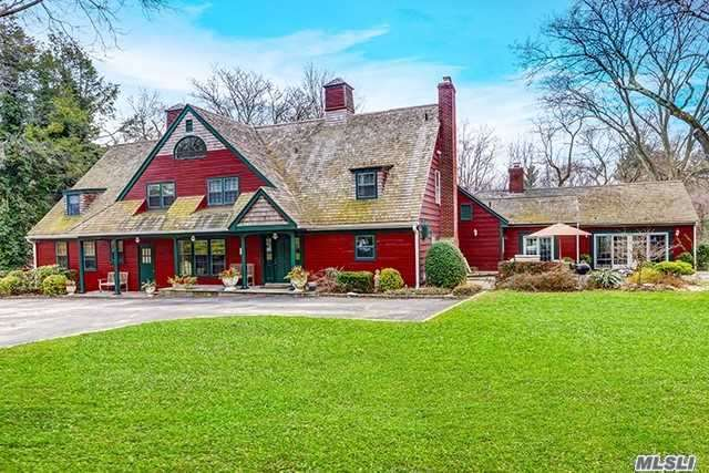 This Outstanding And Unique Country Style Colonial Is One-Of-A-Kind And Has Been Featured In The New York Times. Within The Award-Winning E. Williston/Wheatley Schools, This Beauty Boasts Grand-Sized Entertainment Rooms, State Of Art Kitchen, New Baths, 50' Screened Porch, In-Ground Pool, Amenities Galore, And 4-Car Garage. The Home Sits On 2 Acres Of Flat, Pristine Land. Formerly A Country Farmhouse With Barns, This Home Has Been Renovated To Keep It's Old World Integrity. Generator Included.