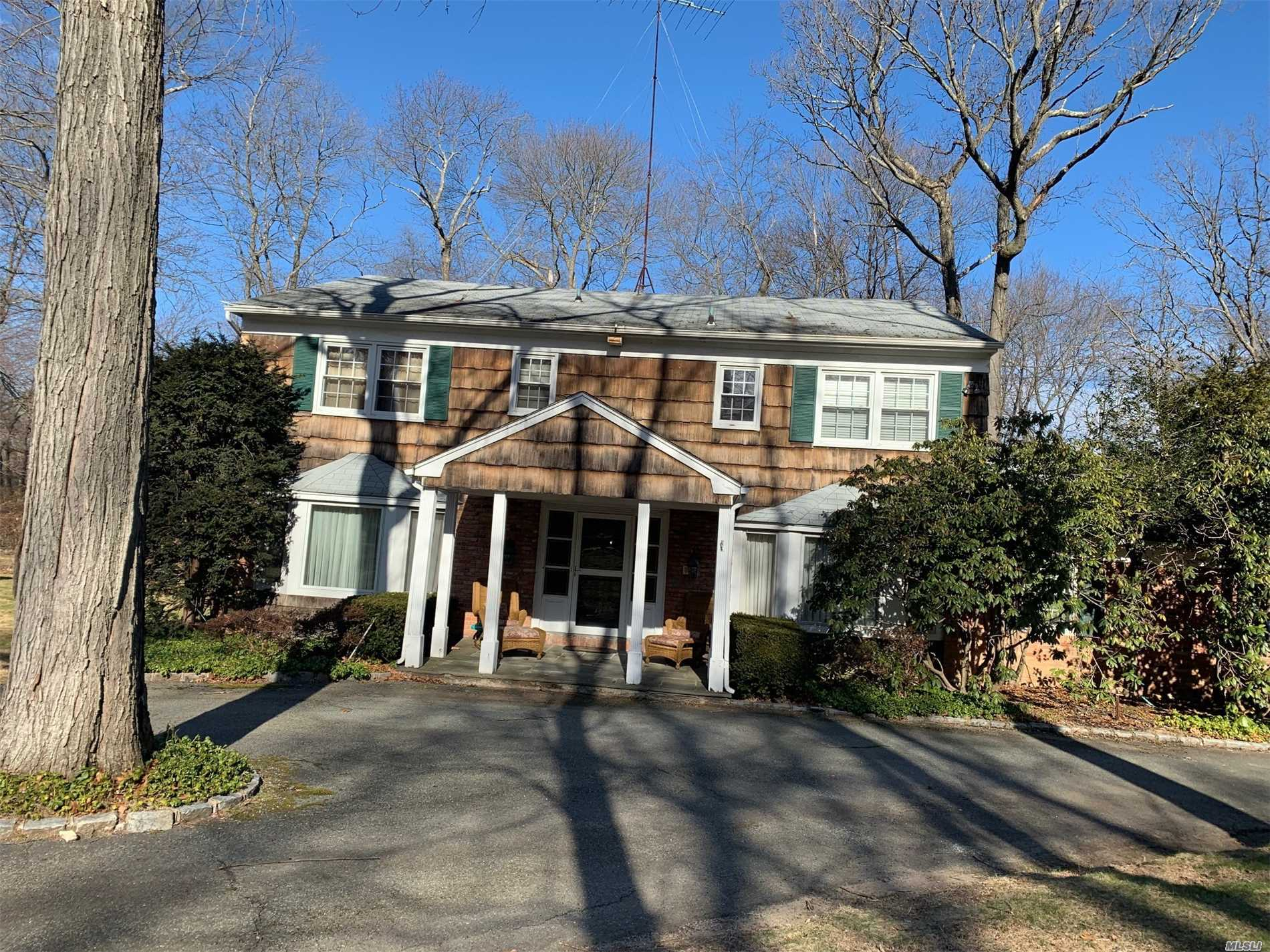 Beautiful Colonial On A Tree Lined Street, This Home Features An Amazing Flow From Room To Room. Foyer With Carrera Marble, Very Spacious Rooms With Plenty Of Storage Space. Price To Sell!! Needs Some Tlc.