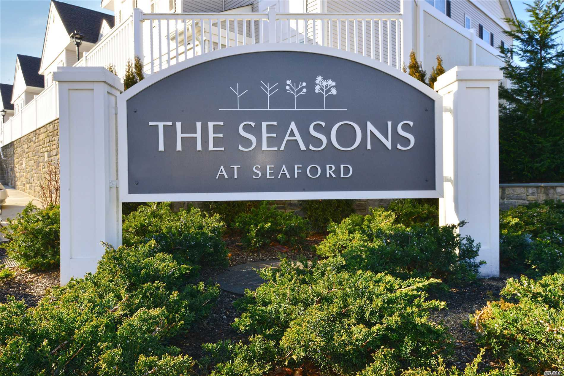 The Seasons Of Seaford - Brand New, Spacious Condo In Beautiful Condition. Many Upgrades Include: Finished Basement, High Hats, High End Carpeting, Shower Doors, Cabinets, Crown Moldings Oversized W/D, Stainless Steel Appliances- Too Much To List. Clubhouse With Gym And Pool. Small Community 62+.Close To All.