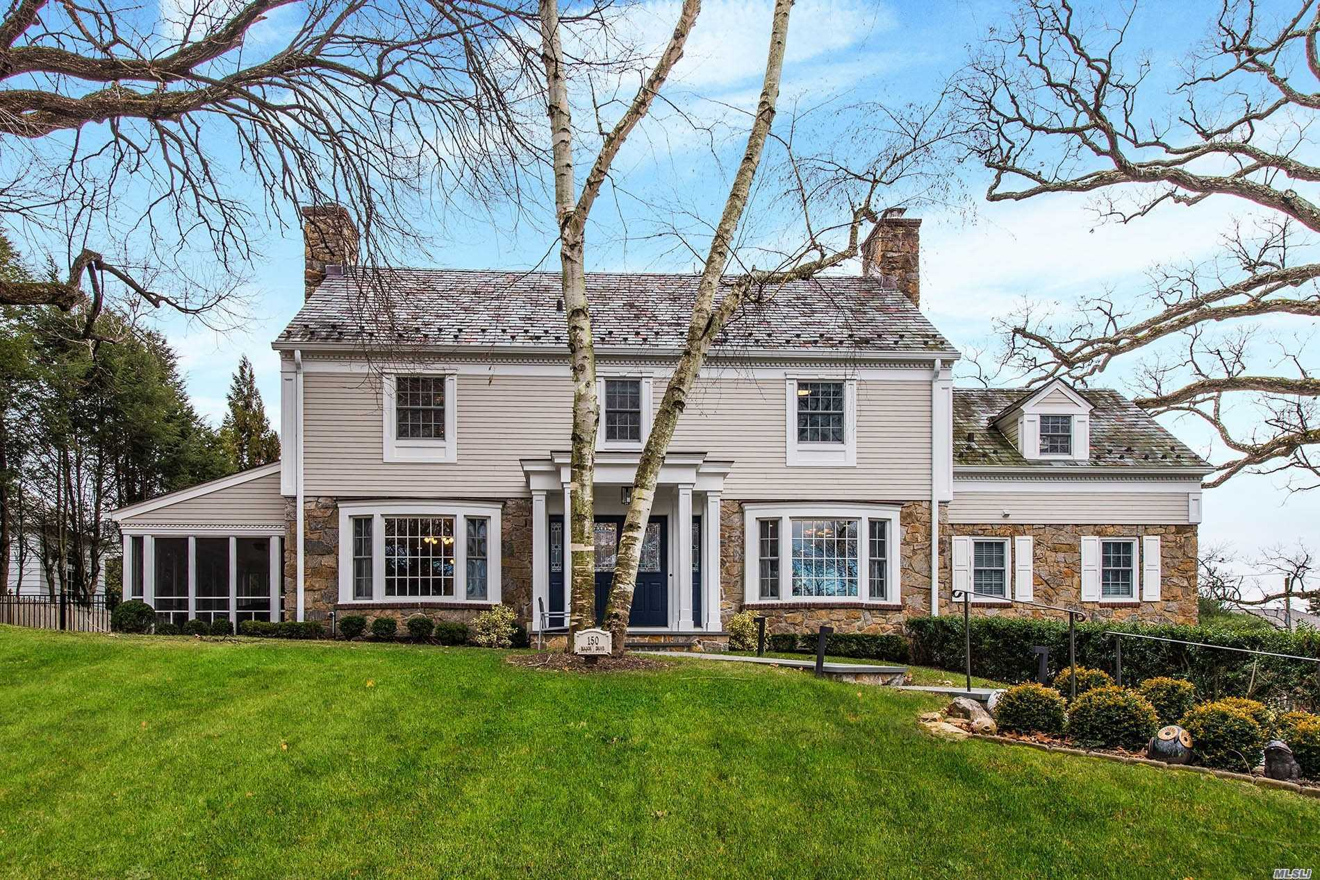 Beautiful Flower Hill Colonial Set On Large .37 Acre. Stunning Renovation Completed In 2017 With Every Attention To Detail And No Expense Spared. The Sleek Design Is Complimented By A Modern Open Floor Plan And Incredible Chef's Kitchen W/Vaulted Ceiling. 2nd Floor Boasts Large Master Bdrm With Bath And Additional 3 Bdrms. Guest Bdrm With Bath On 1st Floor. Close To Town/Train And Large Usable Property Makes For The Perfect Opportunity In Manhasset.