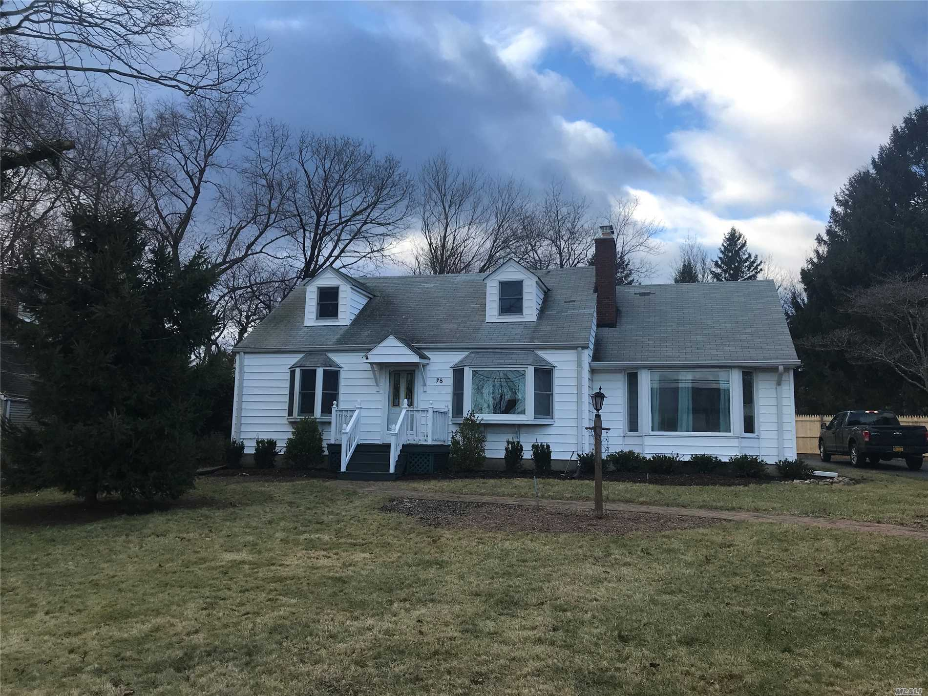 Charming Cape In Desireable Crab Meadow Area Of Northport Near Beach And Golf. Living Room With Fireplace, Updated Country Kitchen , Master Bedroom , 2 More Moderate Sized Bedrooms And Full Bath On First Floor. 2nd Floor Can Be Used As Office With Bath. Finished Basement