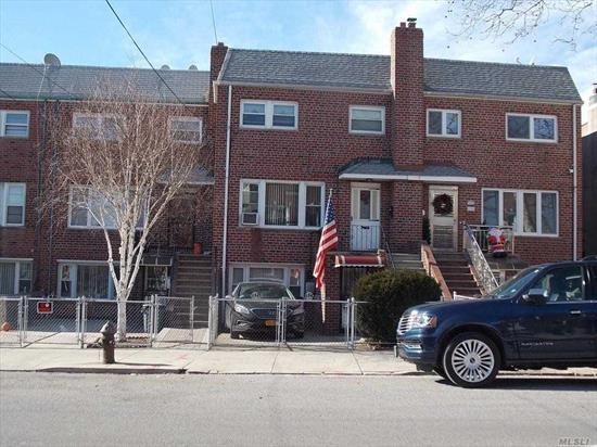 Fantastic Opportunity! 2 Family 20' Brick Located In Middle Village., 1st Fl-Kitchen, Livingroom, 1 Bedrooms, 1 Bath, 2nd Floor Has Large Livingroom, Formal Diningroom, Kitchen And Top Floor Has 3 Bedrooms, 1 Bath. Private Driveway And Private Yard. (Lot Is 20 X 121), 2 Blocks To Shopping & Transportation (Metropolitan Avenue)