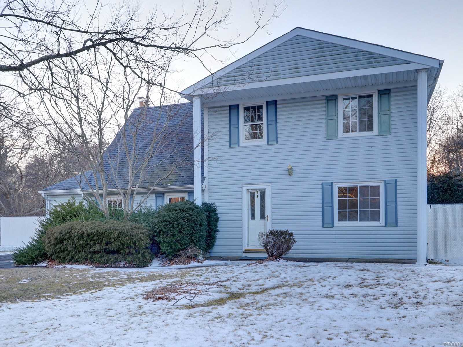 Oversized Property On Beautiful Tree Lined Street, Quiet And Private Cul-De-Sac. This Home Features 2 Warm Cozy Fireplaces With Large Eat In Kitchen And Formal Dining Room. Perfect Home To Relax And Entertain. Large Home With Fresh New Carpeting In Bedrooms. Brand New Heating System.