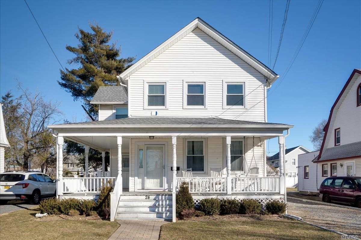 Charming Victorian Colonial With 4 Bedrooms, 2.5 Baths On Quiet Street In Old Woodmere. Master Bedroom With Cathedral Ceilings, Kosher Eik W Ss Appliances, Trex Deck, Fully Fenced Back Yard, Finished Basement, New Hot Water Heater And New Electrical Panel.