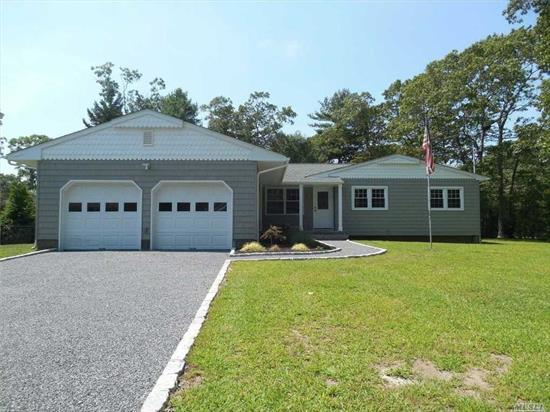 Beautiful Ranch Completely Renovated Inside And Out. This Home Offers Master With Ensuite, 2 Additional Bedrooms, 2 Full Bathrooms, Eik With Stainless Steel Appliances, Dining Area, Living Room, Sunken Den, 2 Car Garage, Full Basement With Laundry Room And Multiple Entrances. Open The Sliding Glass Doors And Enter Your Screened Rear Porch Overlooking Generous Size Back Yard With Room For A Pool. Also New Cac And Hardwood Floors Throughout. Won't Last!!