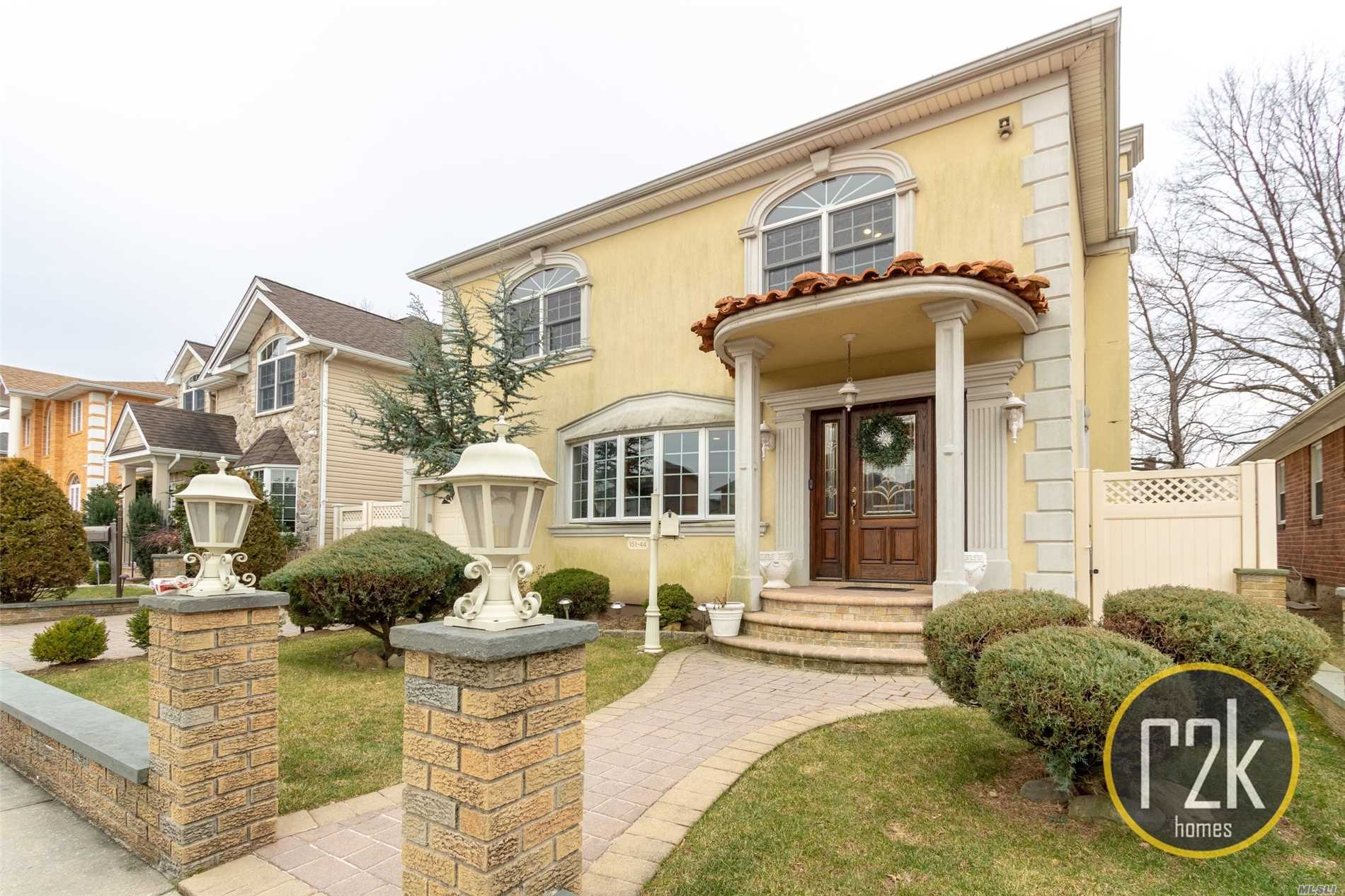 Beautiful Detached One Family Home In Prime Whitestone Area. Between 154th Street & Murray Street. Home Is In Excellent Condition (Contractors Home). Fully Pavered Driveway, Entry & Backyard With An Above Ground Pool Surrounded With A Deck. Perfect Size Backyard Built To Entertain. 4 Bedrooms 3 Full Bathrooms & Full Basement. New Gas Boiler. Truly Turn Key.