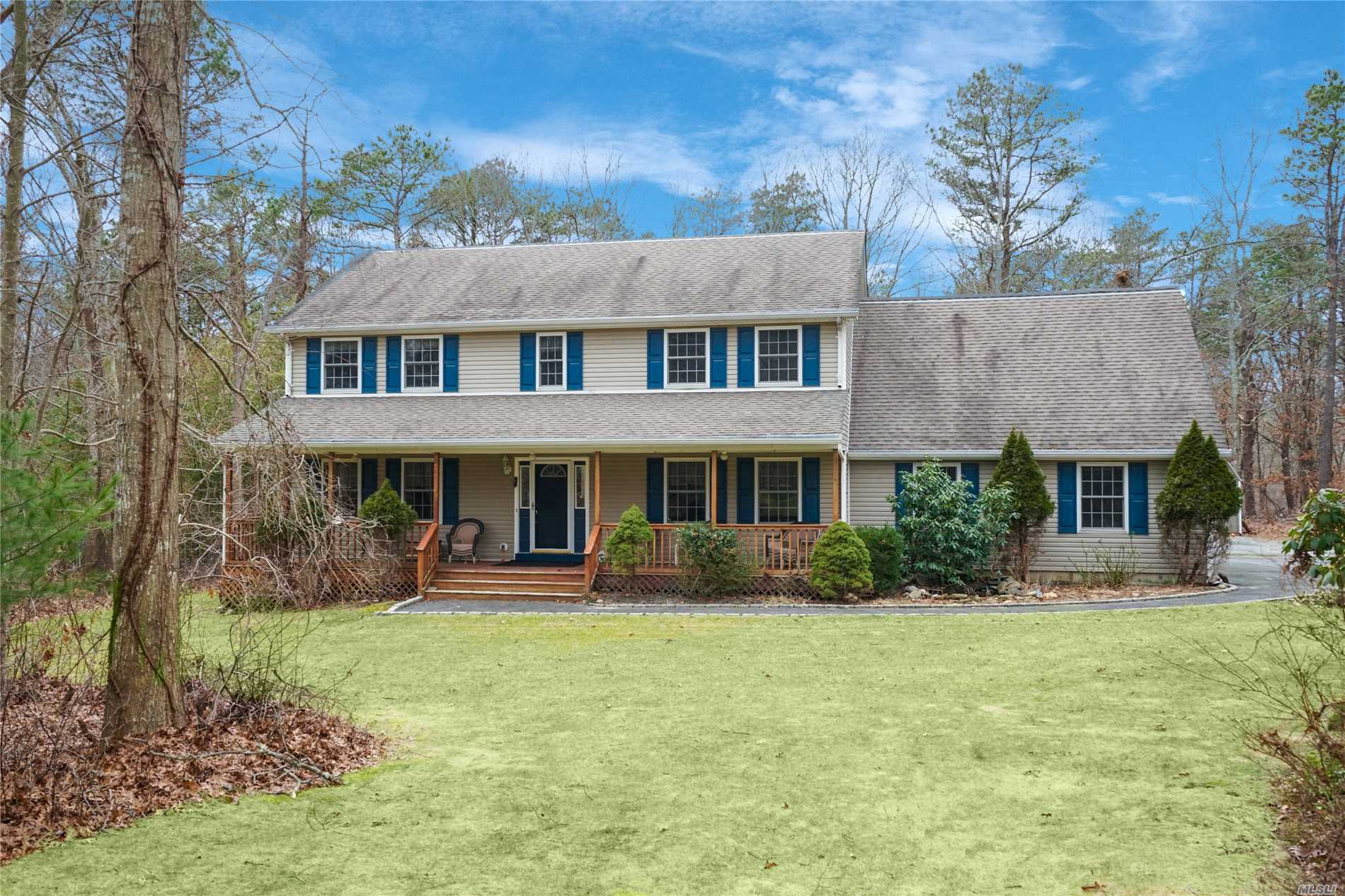 Enjoy Living On Long Island With Plenty Of Space. Spectacular Colonial In The Famed South Manor School District Situated On Over An Acre Of Land. Enjoy The Serenity Of A Cul-De-Sac And Having Your Street Surrounded By A Community Owned 19 Acre Private Preserve. This Home Features A Modern Updated Kitchen, A Formal Living Room & Dining Room, Den With Hardwood Floors And Large Bedrooms. There Is A Bonus Guest Room Ready For All Of Your Visitors. Room For A Horse Stable.