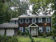 Spacious Colonial In The Midst Of Farms & Wineries. Large Custom Kit.W/Cherry Cabinets, Corian & Sliders To Deck & Patio.Din Area/Sunroom, 2 Fpls., 1 Wood & 1 Gas Fpl. In Den. Mast Bth, Wp Tub In Guest Bth., Custom Moldings, All Oak Fls, Hi Hats, Attic Fan, Fin. Bsmt, 2.5 Car Garage, Owner Owned Solar Panels For Hot Water, Lovely Pvt Yard W/In Ground Pool w/New Liner, Igs, Fish Pond W/Waterfall & Ig Elect.Dog Fence. Close to The Beach in Great Neighborhood!