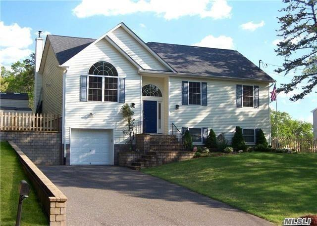 Immaculate, Spacious Home Located In North Shirley Near Southaven Park. Formal Living Room With Cathedral Ceilings And Hi Hat Lighting. Beautiful Eat In Kitchen. Master Suite With Private Bathroom. Plenty Of Storage And Room For Entertaining. Could Be A 4th Bedroom Or Office On Lower Level If Needed. Central Air System, Indoor/Outdoor Speakers, Alarm System, Fenced In Yard. Newly Installed Flooring.