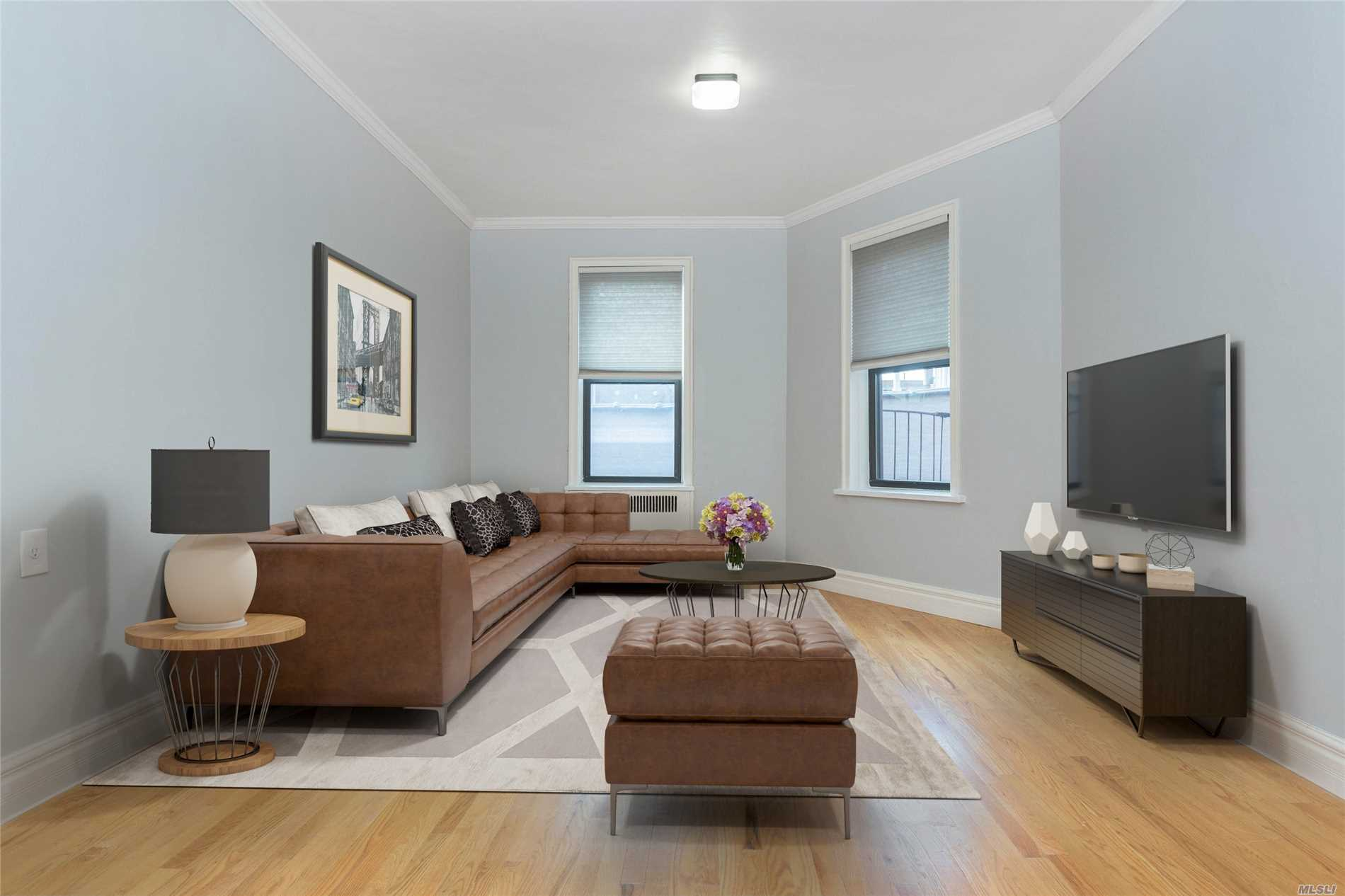 Quiet And Totally Updated, This Spacious 1Br Features Gleaming Hardwood Floors, Updated Kitchen With A Dishwasher And A Windowed Bath. The Unit Features The Classic High Ceilings And A Spacious Living Room, Entry Foyer And Kind Sized Bedroom With Extra Large Closet. Located On Near The Corner Of 30th Ave And 29th St, Everything Astoria Has To Offer Is Within A Few Blocks. The Colony Is A Sought After Building And Is Known For Being Extremely Well Cared For And Managed.