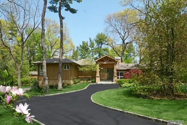 Old Westbury. Stunning 5 Bedroom 4.5 Bath Hgtv Inspired Dream Home On 2+ Acres Of Park-Like Private Property Backing Old Westbury Golf And Cc Huge, Eik W/ A Double Sided Stone Fpl, Custom Cabinetry, Granite Countertops, State Of The Art Ss Appliances, Gas Cooking. Huge, Open Floor Plan Living And Dining Room, Full Length Windows Flow To Double French Patio Doors, 2 Dens; 1 W/Custom Full Bar, Master Suite W/Picturesque Windows, 2 Walk-In Closets And Balcony, In-Ground, Heated Pool, Pool House.