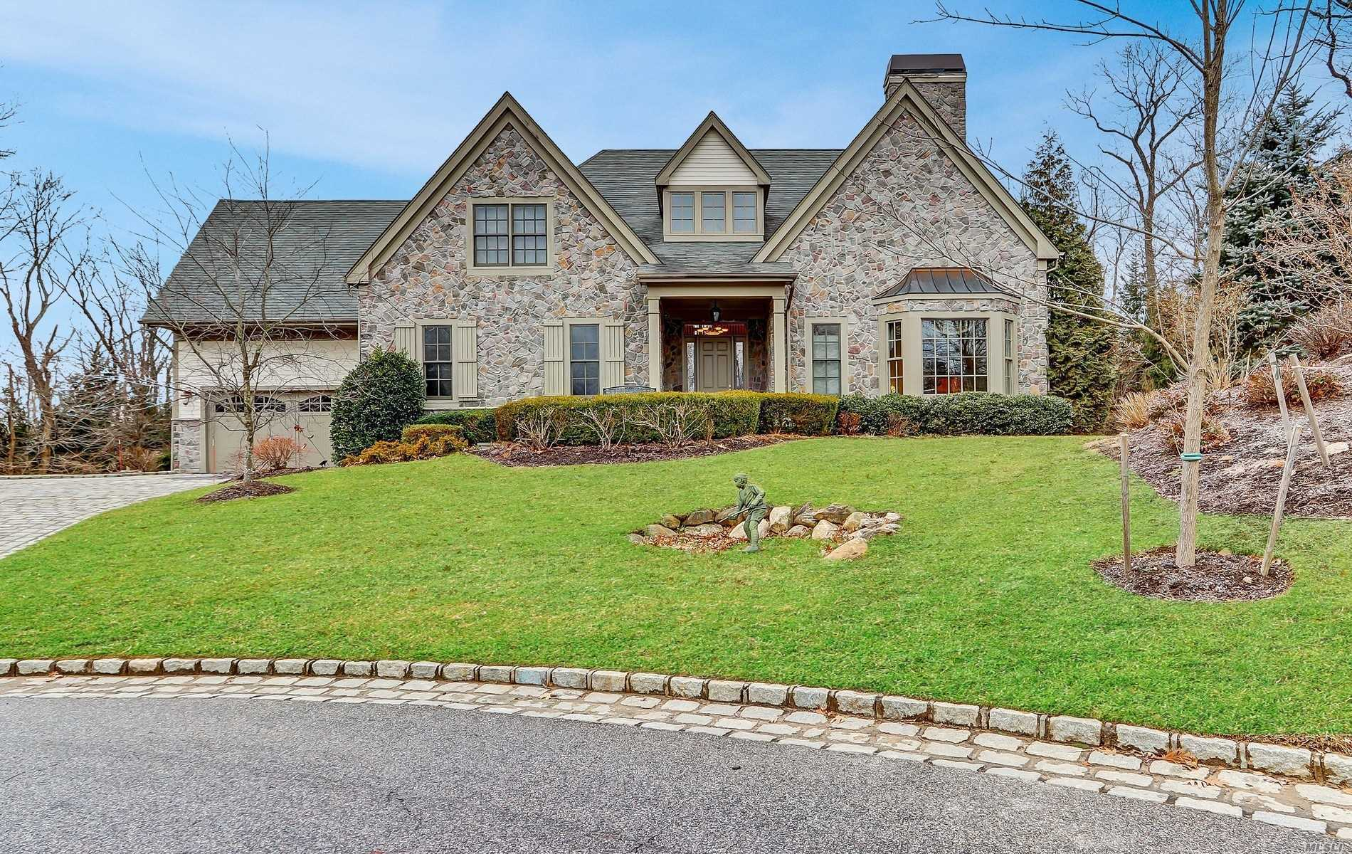 Best Value In Stone Hill Muttontown. Fabulous Better Than New Stone And Stucco Colonial. A Grand Entry, Bridal Staircase, Open Light Bright And Airy Floor Plan, Master Suit With His/Her Baths & Separate Sitting Room.A Finished Walk Out Lower Level With Home Theater And Beautiful Flat Usable Property