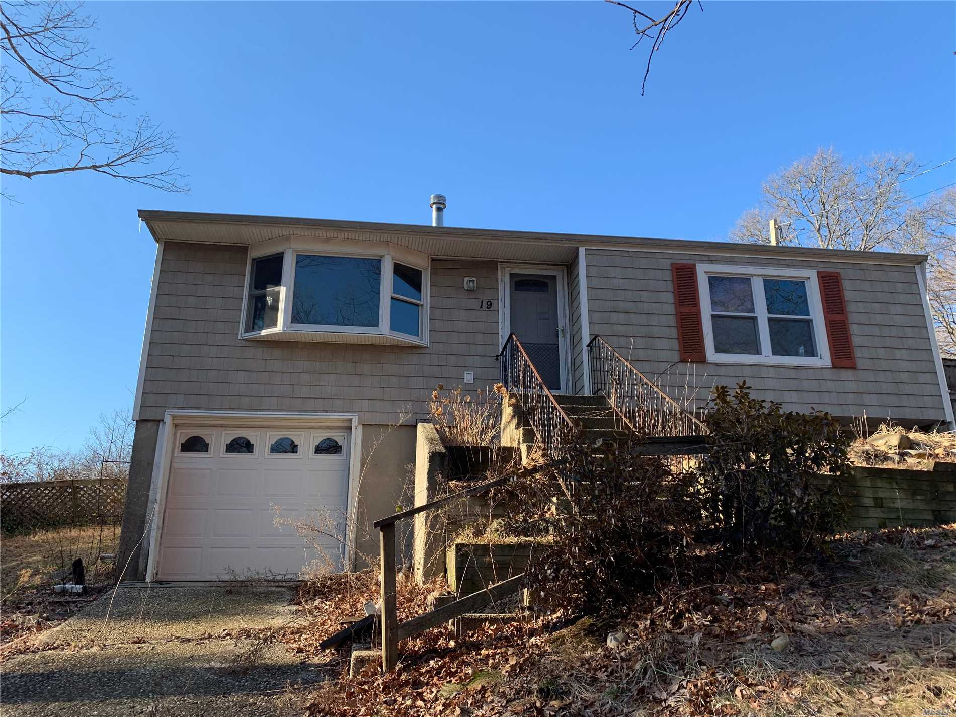 Lots Of Potential In This 3 Bedroom, 1 Bathroom Ranch Home With Full Basement And One Car Garage. Large Flat Backyard. Wood Floors Throughout. Wood Burning Stove In Living Room. Upgraded Burner And Electric Systems. Basement Can Be Easily Finished For Additional Living Space.