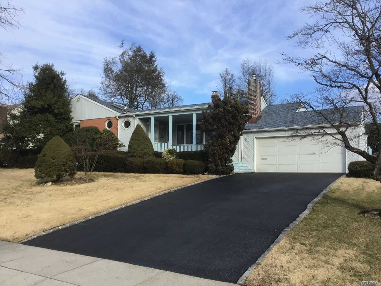 Diamond Expanded Ranch, 3 W/Potential 4 Br Near Searingtown Pond On 9500 Sq Ft Lot W/Prof Lndscpng, 4 Skylts, Eik W/Lrge Bkfst Rm & Grnt Cntp, All New: Dw, Micro, Oven, Mrble Flr; Glass Sliders To 2 Dks, Lrge 1st Flr Lndry! 2 New Luxury Spa Bthrms With Heated Floors, Bb & Quartz Counters! Mbth Makeup Vanity, Den W/Fp, Fin Bsmt, All New: 3 Zone Gas Heat, Bb, Cac, Lifetime Roof; All Redone Oak Flrs! Andersen Windows Throughout, 2-Car Att Gar, Igsp, Byd Fully Fenced, A+ Herricks Sd#9, Low Taxes