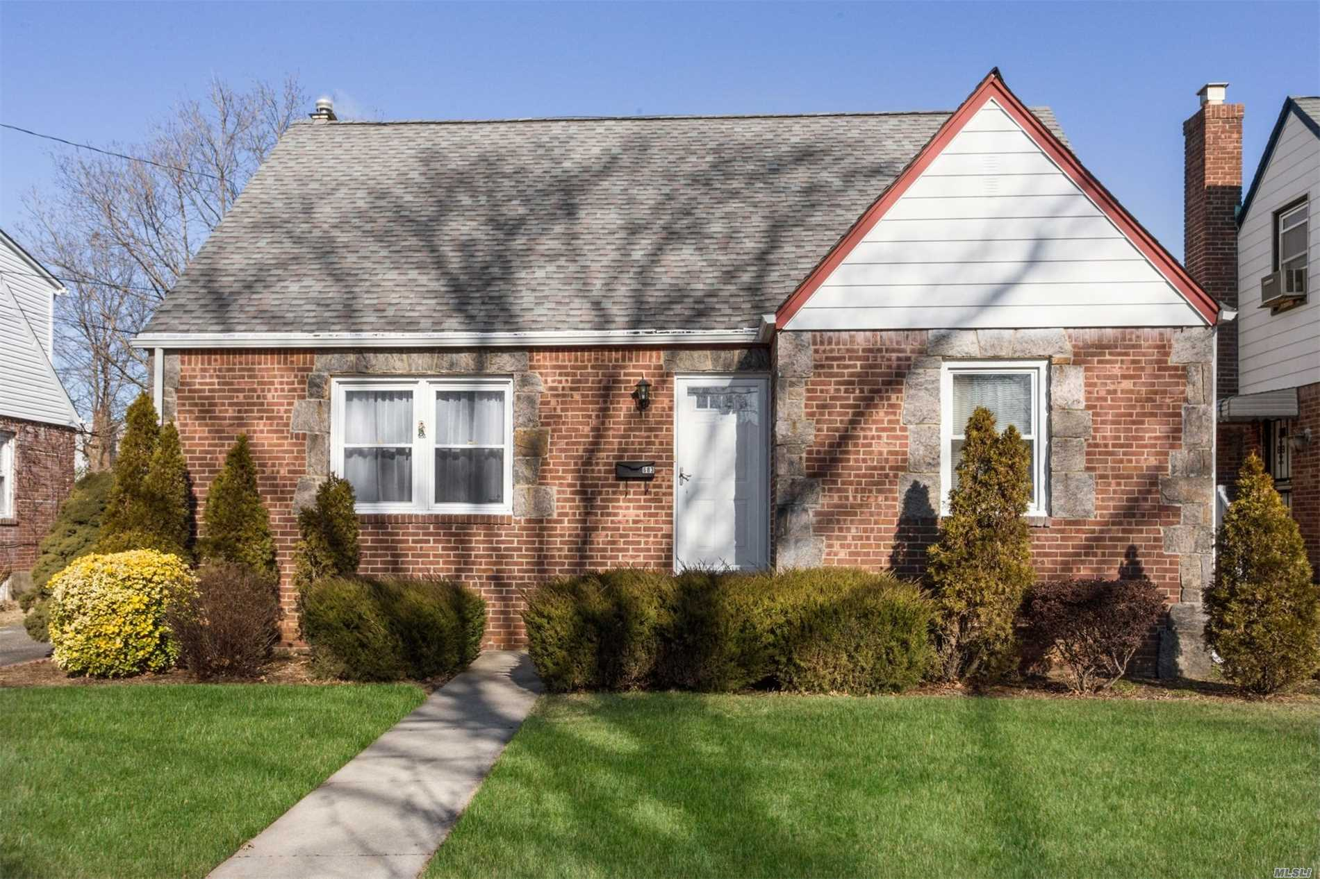 Delightful, Sun-Drenched 3 Br, 1 Ba Brick Cape Located Mid-Block On 54 X 100 Property On A Tree-Lined Street. In True Move-In Condition, The Home Features An Inviting Living Rm, Eik, 2 Brs & A New Hall Bath On The Main Level. The 3rd Br Is Upstairs Where There Is Bonus Space Ready For You To Add A 4th Br Or Whatever Your Lifestyle Requires. The Unfinished Basement Offers Laundry/Utilites/Storage. Detached 1C Gar & Fenced Backyard. Cac, Updated Hw Heater, Roof, Windows, Stoops. Smith St School.