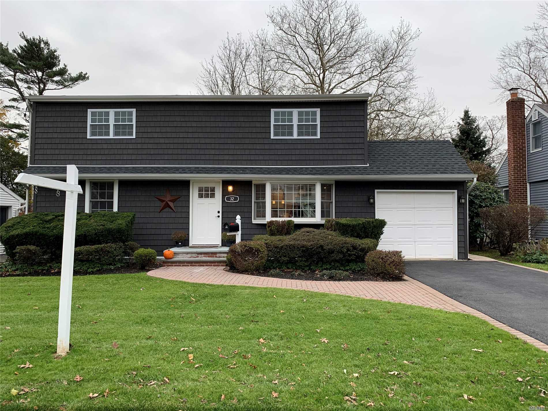Gorgeous, Newly Renovated Exp. Cape, New Kitchen, 2 New Full Baths, 4 Bedrooms, New Family Room Basement, New Wood Floors, All New Electrical, Plumbing, Sheetrock, Moldings, Windows, Roof, Siding, Doors, Cac, 200 Amp Electric, O/S Park-Like Yard, 1 Car Garage, Igs. Move Right In & Unpack!