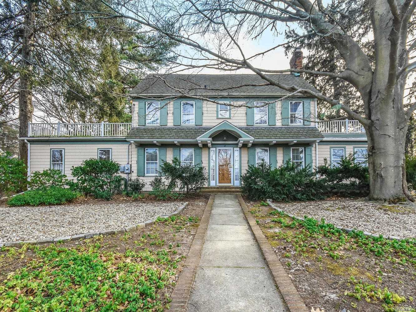 This 5 Bedroom, 2.5 Bath 1923 Center Hall Colonial Is A Classic Beauty. Situated On A Large, Private Property This Home Includes A Spacious 3 Car Garage Complete With Legal Artist Studio Above. Sunny And Bright With Plenty Of Room To Accommodate Many. Storage Galore With Work Space In Basement & Oversized Finished Recreation Room. Gas Generator, Updated Electric Service. Close To Sea Cliff School, Village & Beach!