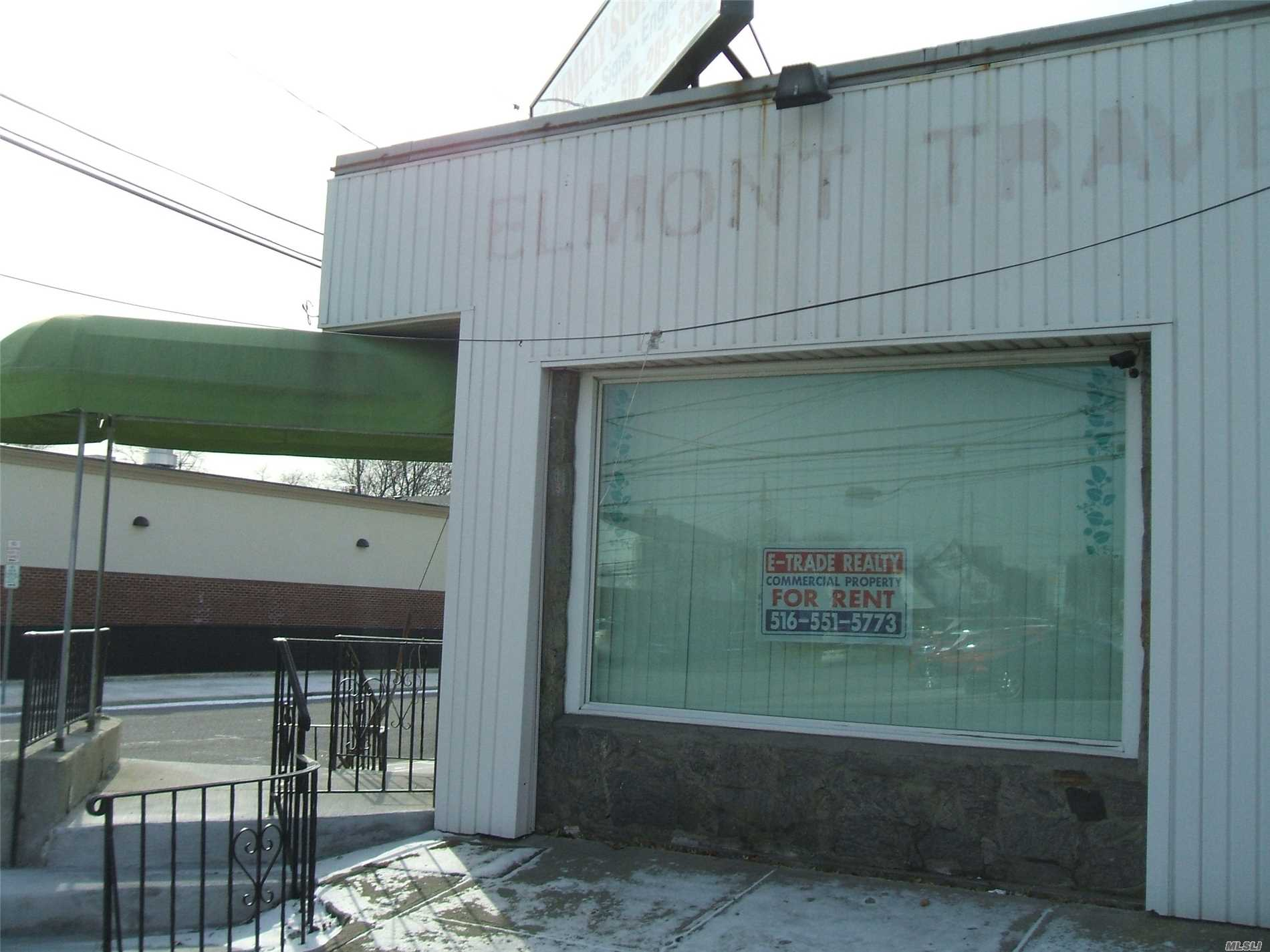Storefront- Corner Property- To Be Used As Office Only . Thanks