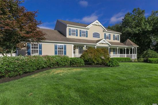 Desirable East Moriches Schools Choice Of Westhampton-Eastport South Manor Or Center Moriches! Spectacular Home Backs Preserve, Privacy Galore! Custom Upgrades, Granite, Pantry, Dual Zone Wine Cooler, Double Fireplace, Full Basement Has Too Many Features To List! This House Has Everything You Want And Need! All This House Needs Is You!