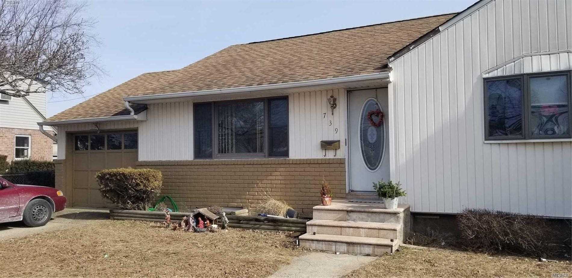 3 Bedroom Ranch, Eat In Kitchen, Living Room, Full Basement. Garage. French Doors Lead To Large Backyard. Pull Down Stairs To Attic. Nearby Major Highways, Shopping, Houses Of Worship, Bethpage State Park.Short Sale