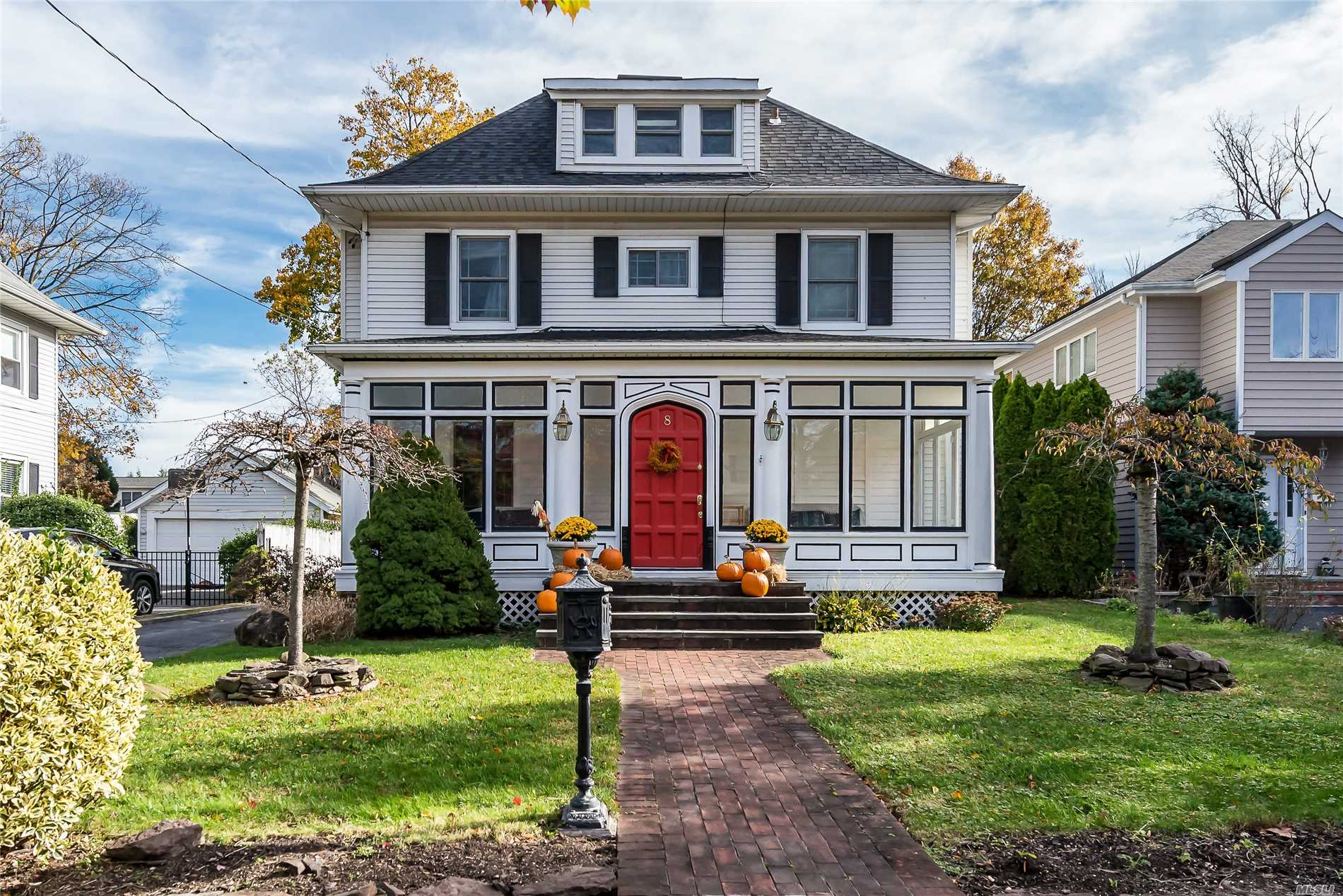 Small Dog Allowed With 2nd Security Deposit. No Cats. Excellent Credit. Furnished $3850/Month. Rental Insurance Required. Very Charming, Elegant, Well Maintained Colonial Circa 1915 Fab Enclosed Front Porch, Huge Eik, Crown Mouldings, Updated Baths, Heating System, Roof, Windows. Full Finished Bsmt W/ Ose. Ag Pool Surrounded By Trex Decking. A Wonderful Home To Entertain In. Close To Beach And Sunsets!
