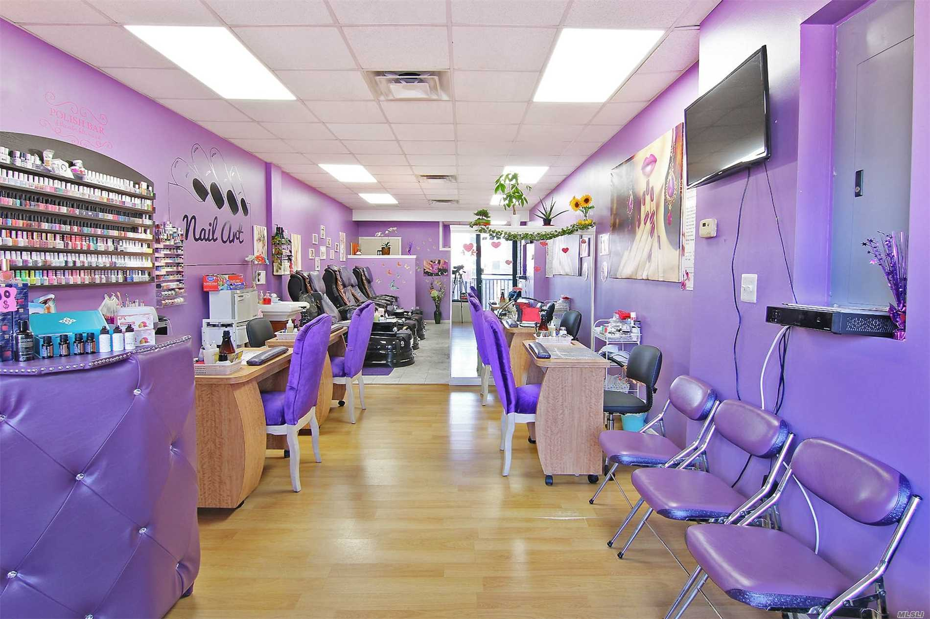 Beautiful Nail Salon In Whitestone. Prime Location! Conveniently Located In Clintonville Plaza, Surrounded By Multiple Businesses That Bring Lots Of Foot Traffic. A Young Business That Has Everything In Practically New Condition. 4 Pedicure Massage Chairs, 4 Manicure Tables, One Nail Drying Table, 1 Facial Room, A Massage Room, And An Extra Room. Low Rent Of $1800. 2 Years Left With The Option To Renew For Another 3 Years.