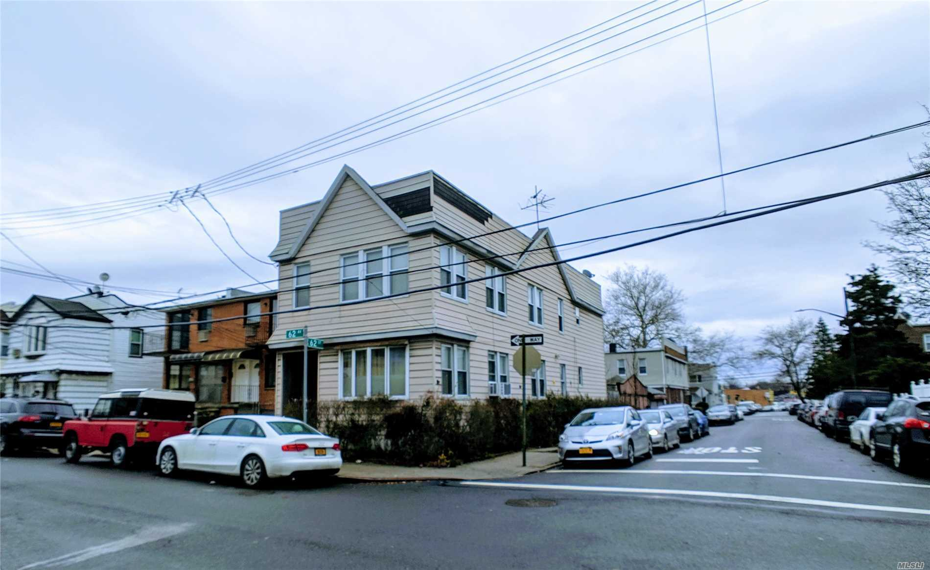 3 Family With 3 Car Garages Detach Corner Property In The Boarder Of Ridgewood, Maspeth And Middle Village.