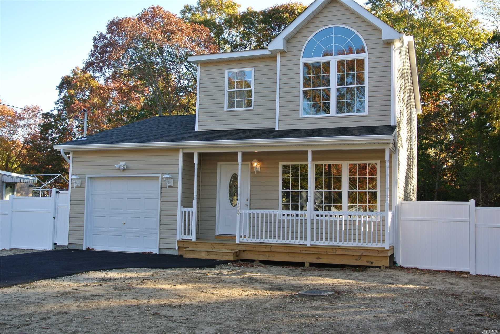 Home Is Just About Completed With Beautiful Wood Floors, Custom Kitchen With Granite Counters Tops, Stainless Steel Appl, 3 Bedrooms, 1.5 Baths, Cac, Full Basement With Separate Entrance, Close To All, Beach, Shopping & Transportation..Certified Energy Star Home . Taxes Have To Be Determined By The Town Of Brookhaven