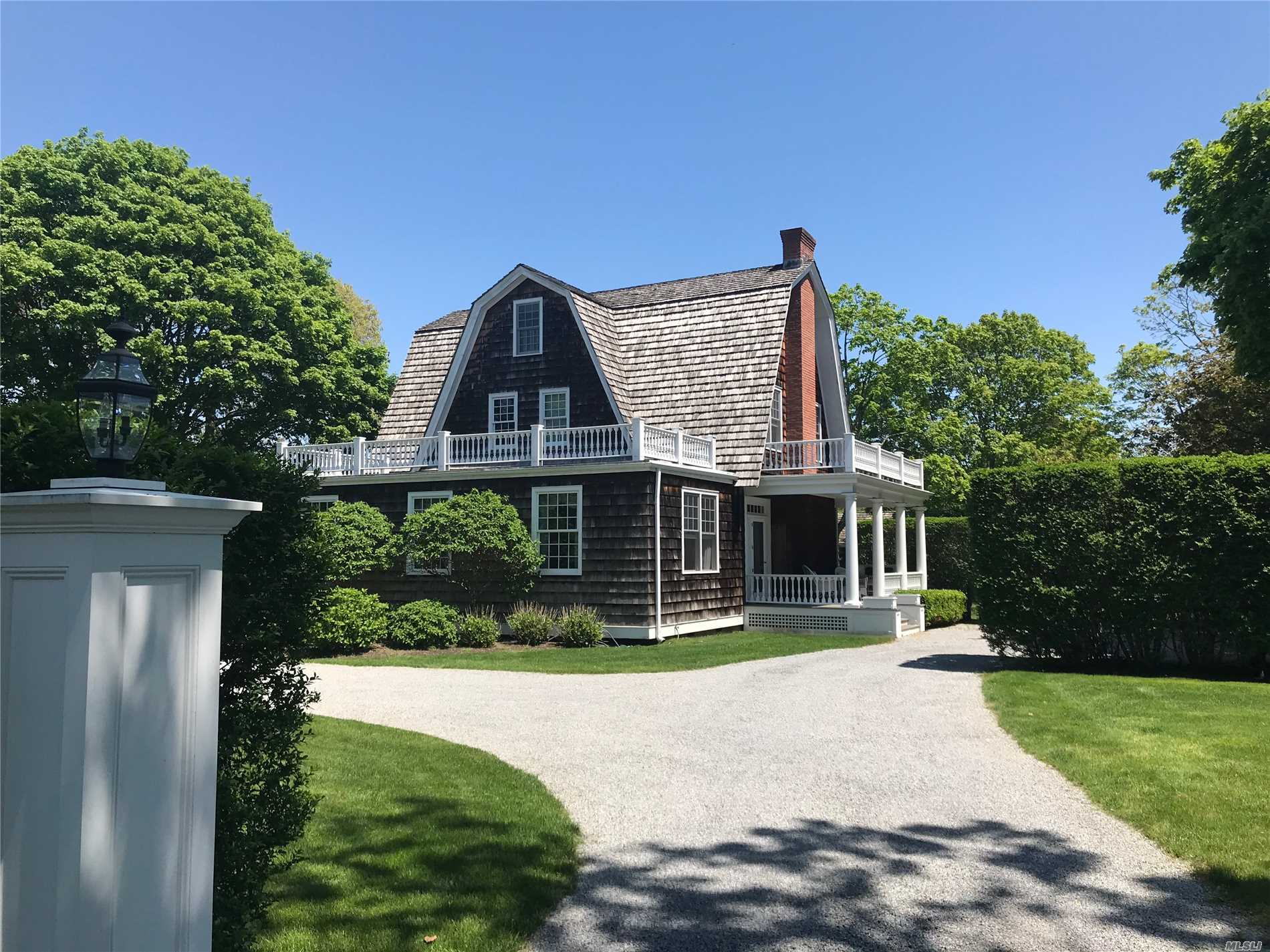 Estate Section Of Quogue.Beautiful And Comfortable Home With Great Entertaining Space Includes Living Room, Dining Room And Library All Lead To The Best Chef's Kitchen W/Huge Center Isle, 6 Burner Gas Stove, Wine Fridge, 2 Dishwashers, Cocktail Center. A Very Private Master Suite With It's Own Office Along With 3 Other Guest Rooms Assure Comfy Sleeping. Gunite Heated Pool, Pool House With Wet Bar And 1/2 Bath, Spacious Patio Is So Inviting For Those Summer Days.Quogue Beach And Only 90 Mins N Y C.