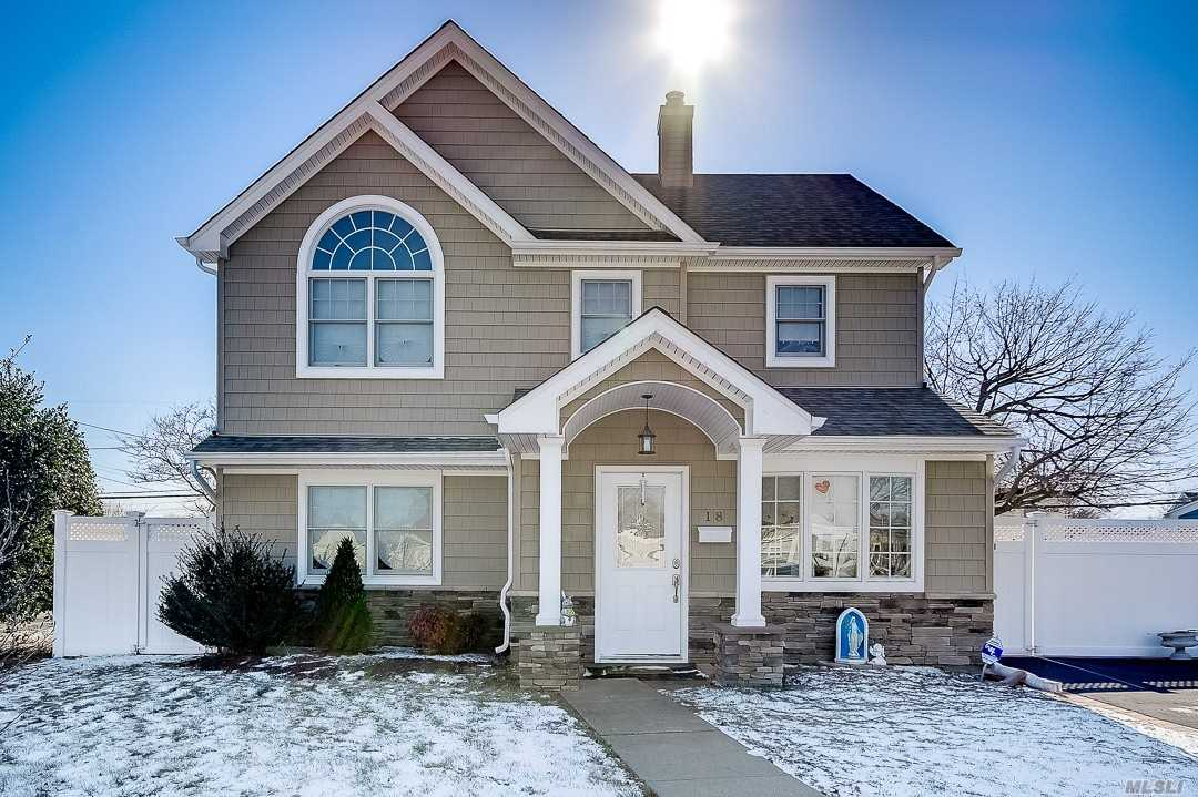 Diamond Colonial, Better Than New! Completely Remodeled & Expanded W/Open Floor Plan! New Custom Eat In Kit W/ Cherrywood Cabinets, Granite Counters & Ss Appliances. New Floors, Roof, Heating System, Updated Electric, Siding And Much More!