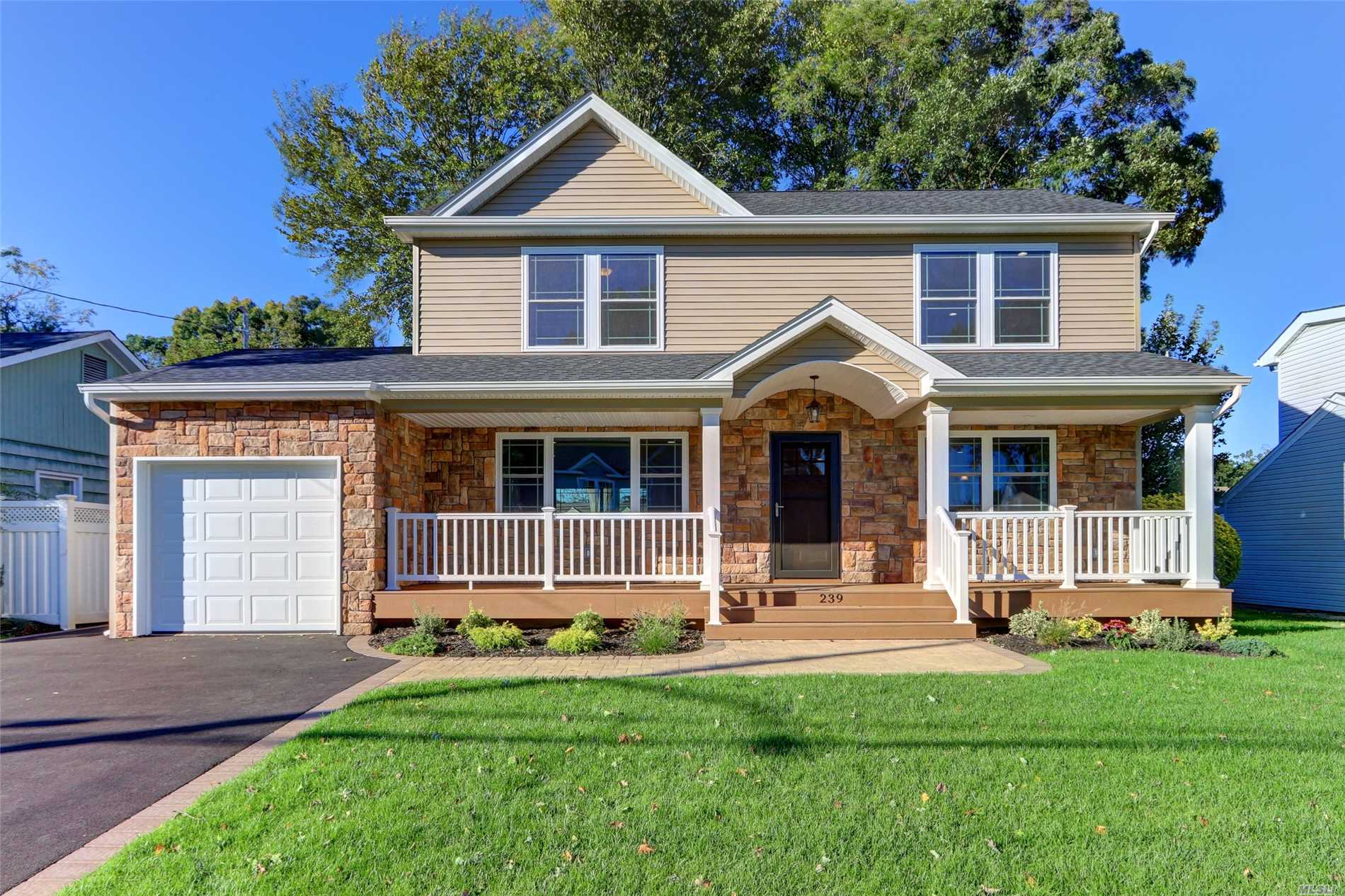 This Diamond Colonial Is Fully Loaded Featuring Stunning Kitchen/Granite Island/Ge Profile Ss Appl...Gleaming Hardwood Flrs..Crown Molding Thru Out 1st Flr..Master Bedroom W/2 Walk In Closets/Full Bath/Cac..Hydronic Gas Htg..2Zone...Igs..Front Porch..One Car Garage/ Builder Spared No Expense