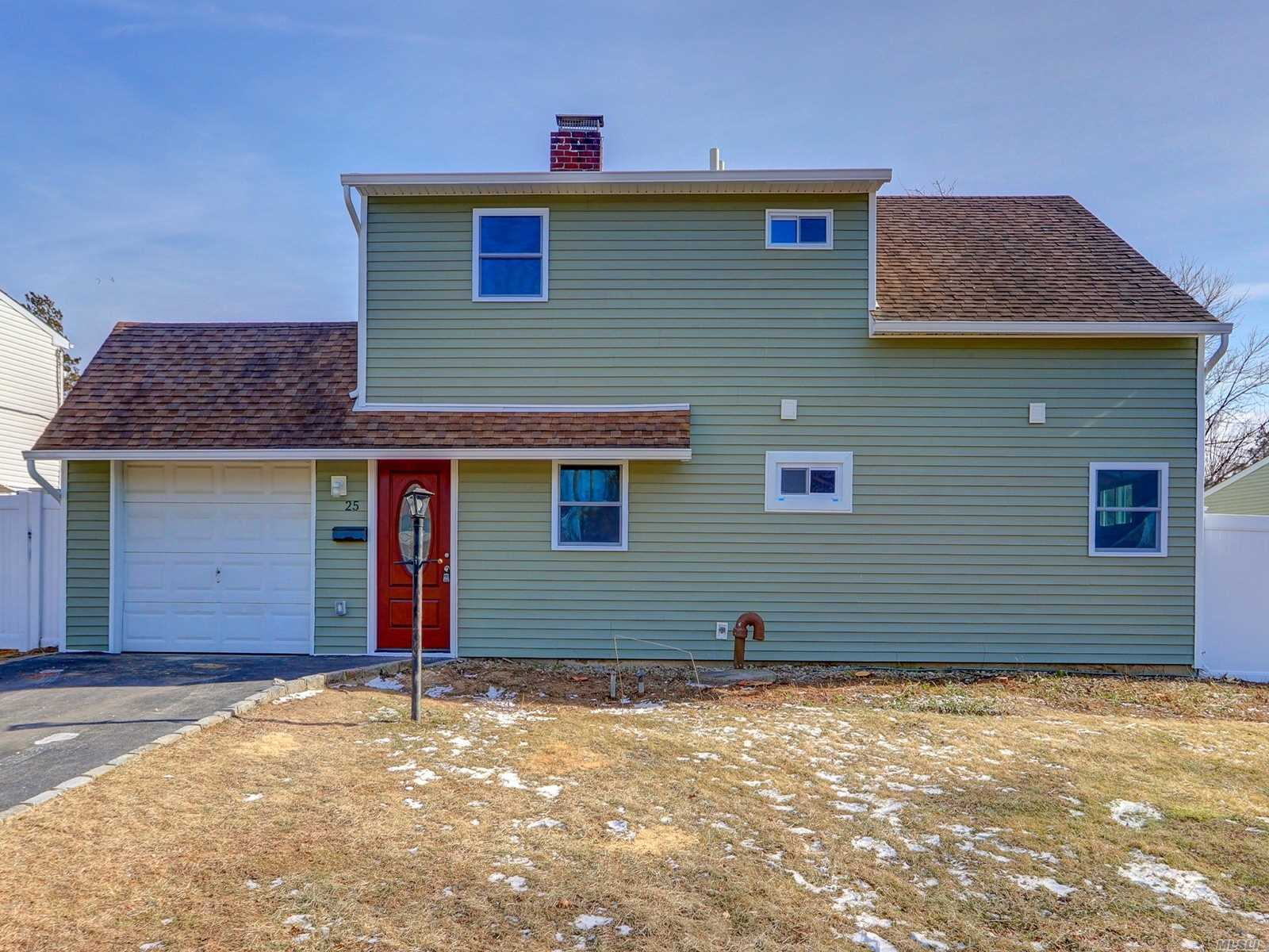 Completely Renovated And Expanded 4 Bedroom Two Bath Ranch. New Eat In Kitchen With Granite Countertops And Stainless Steel Appliances. Living Room Has Been Opened Past Staircase To Create A Formal Dining Room Or Family Room. Three Spacious Bedrooms Up And A New Bathroom.