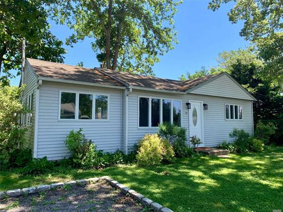 Waterfront Living! This Newly Renovated Home Is Sited On .26 Acres Located In The Shinnecock Shores Waterfront Community, Featuring 75 Feet Of Bulk Heading. Offerring A Compeletly Renovated Interior W/New Flooring, Updated Bathroom, Newly Painted, New Kitchen Cabinets, Counters & All New Ss Appliances. Cac & Natural Gas Heat Make This Two Bedroom, 1 Bathroom Home A Perfect Choice For Low Maintenance Waterfront Living. Enjoy Water Views & Your Boat In Your Backyard.