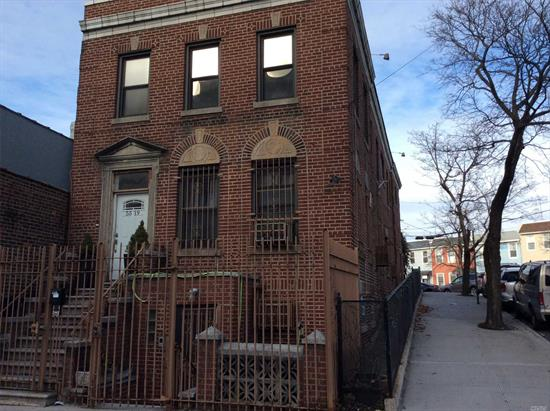 Beautifully Situated Building Minutes To All Transportation And City. This Is A Three Residential Dwelling Property And C/O For One Commercial Space. Features 2 Garage Spaces. And It Is A Corner Building; Property Will Be Delivered Vacant.