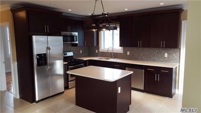 Luxury Diamond Condition Fully Renovated Two Bedroom Two Full Bath, Central Air Conditioning & Central Heat, Eat In Kitchen With Island Apartment, Close To All Schools, Shopping, Public Transportation & Highways,
