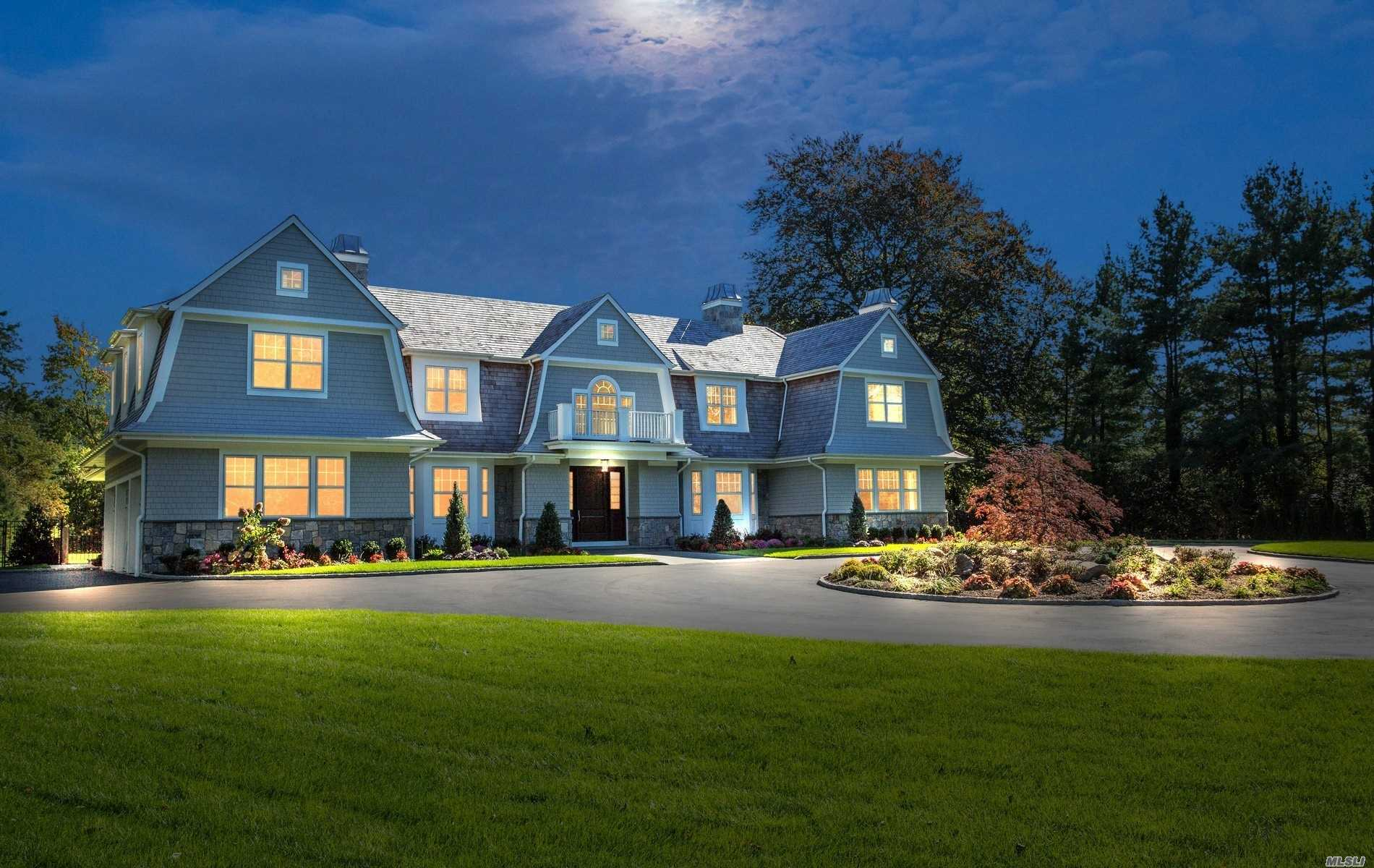 Unparalleled 6, 600 Sq.Ft New Construction.In The Prestigious Vill Of Old Westbury.Cedar & Stone Hampton Style Col Built By Noted Gold Coast Builder.2 Mag.Flat, Prof Landscaped Acres W/In Ground Heated Pool.Transitional & Chic W/The Finest Materials, Designer Trim & Moldings, Formal Dr W/Coffered Ceilings.20Ft.Grand Entry Foyer, Chef's Gourmet Kitchen W/Commercial Grade Appliances, Master Suite W/Fpl, Sitting Rm, W-In Built In Closet & Radiant Heated Spa Bath East Williston (Wheatley) School District.