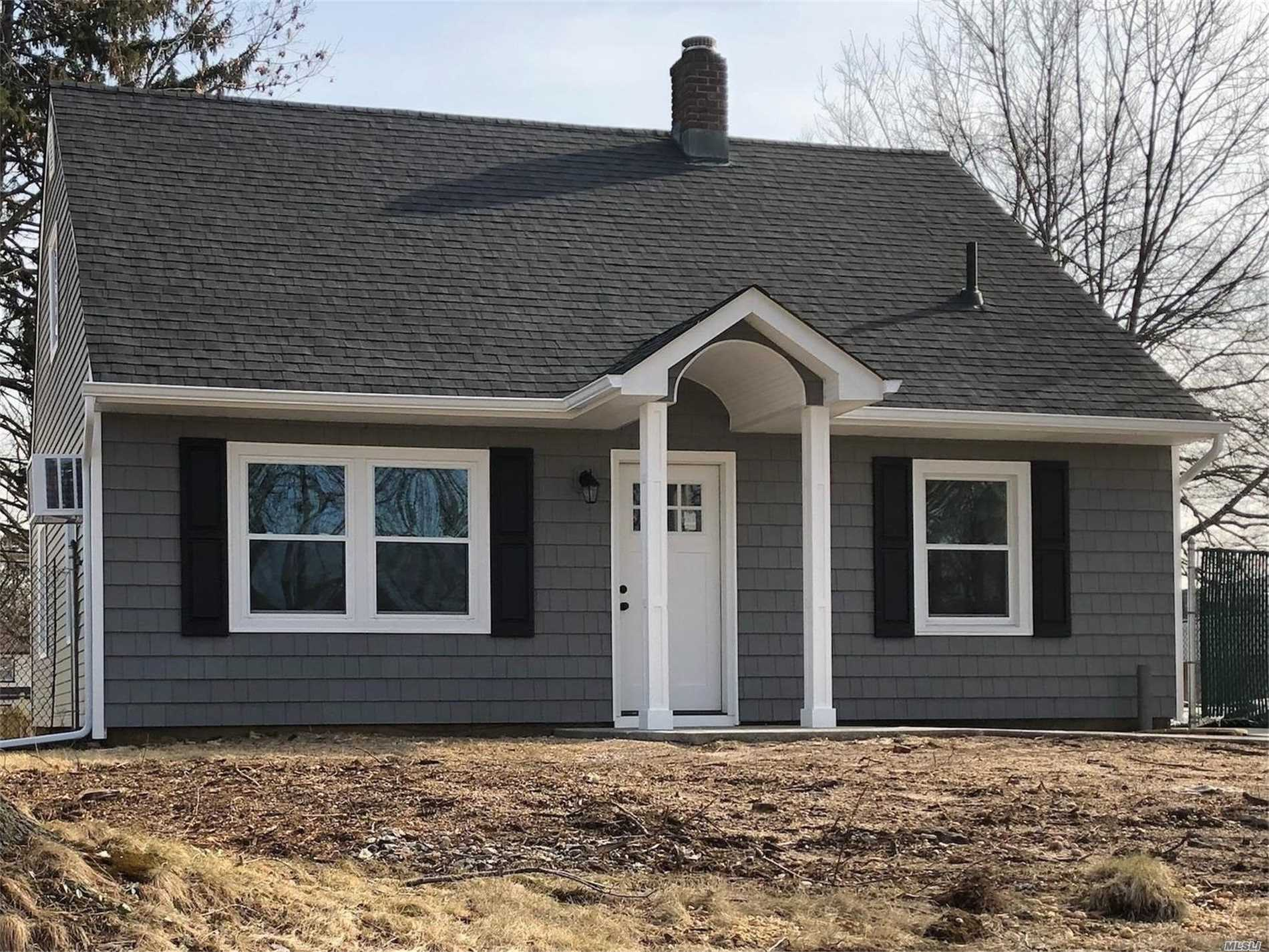 This Charming 4 Bedroom Cape Has Been Completely Renovated!!! Brand New Granite Kitchen With Stainless Steel Appliances And Brand New Full Bathroom. New Siding, Roof, Gutters, Boiler, Carpet, Tile Floors And High Hats Through Out. Just Unpack Your Bags And Move Right In!!! Taxes Have Been Grieved.