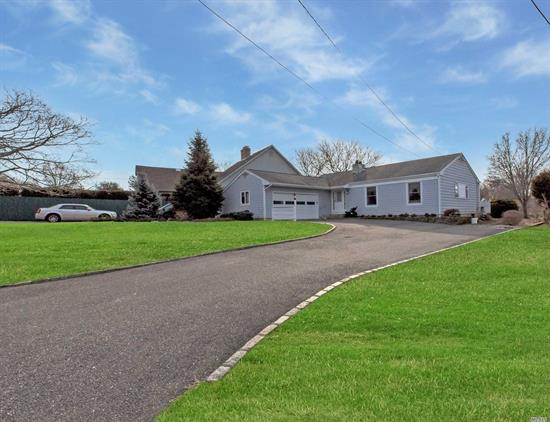 Solid Ranch Home With Fireplace And Nice Layout On The Best Deep Water (6' Mlt) For Boating On The North Fork Providing Direct Bay Access. Vinyl Bulkhead. Two Floating Docs With Electric And Water. Nice View Too! Memorable Community Bay Beach Nearby And Short Distance To Island's End Golf Course. Attached Two Car Garage And Large Basement With Inside And Outside Entrances And Good Ceiling Height. View The Virtual Tour!