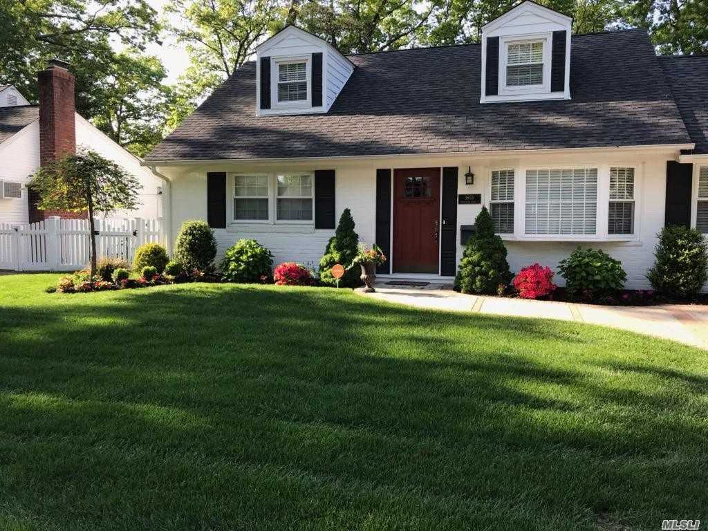 Charming & Pristine, This Sunny Lovely Home Welcomes You, Starting With Its Curb Appeal! Once Inside, The Warm Flare Of Design & Meticulous Setting Awaits. First Floor Features A Living Room With Large Bay Window;Extended Area With Fireplace;Formal Dining Room;Sleek Renovated Kitchen/New Appliances;Washer/Dryer; Master Bedroom; Bedroom & Full Bathroom. Master Size Bedroom 2nd Floor; Office & Wic. The Well-Groomed Backyard Oasis Is Just Waiting For Summer! Bring Your Toothbrush & Move Right In!