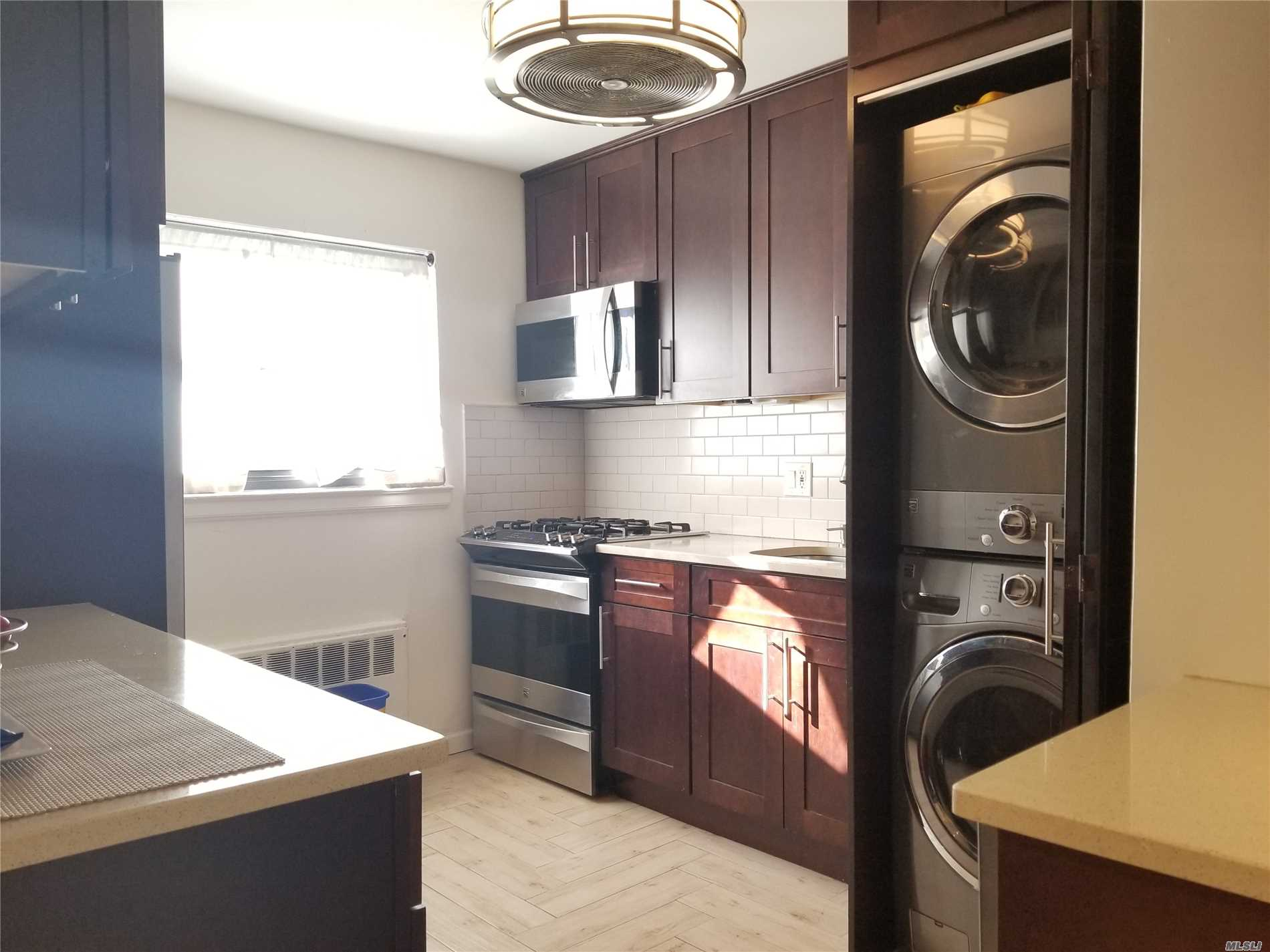 Largest Corner Unit On 2nd Fl., Newly Renovated Beautiful Kitchen, Mint Condition, Electricity Upgraded To 220 Amp, Windsor Oaks Is Self-Managed,  Professional Landscaped, Free 2 Spots Parking, Garages For Rent At $150, Very Well Known Alley Pond Park And Cunningham Park Surrounded. 4 Ceiling Fans & lighting, brand new storm door & windows, Sd#26, Pet Friendly, 100% Equity Coop, Bus Qm5, Qm8, Q88, Q27, Sublet Possible, No flip tax, across street Alley pond park, this is A must see!