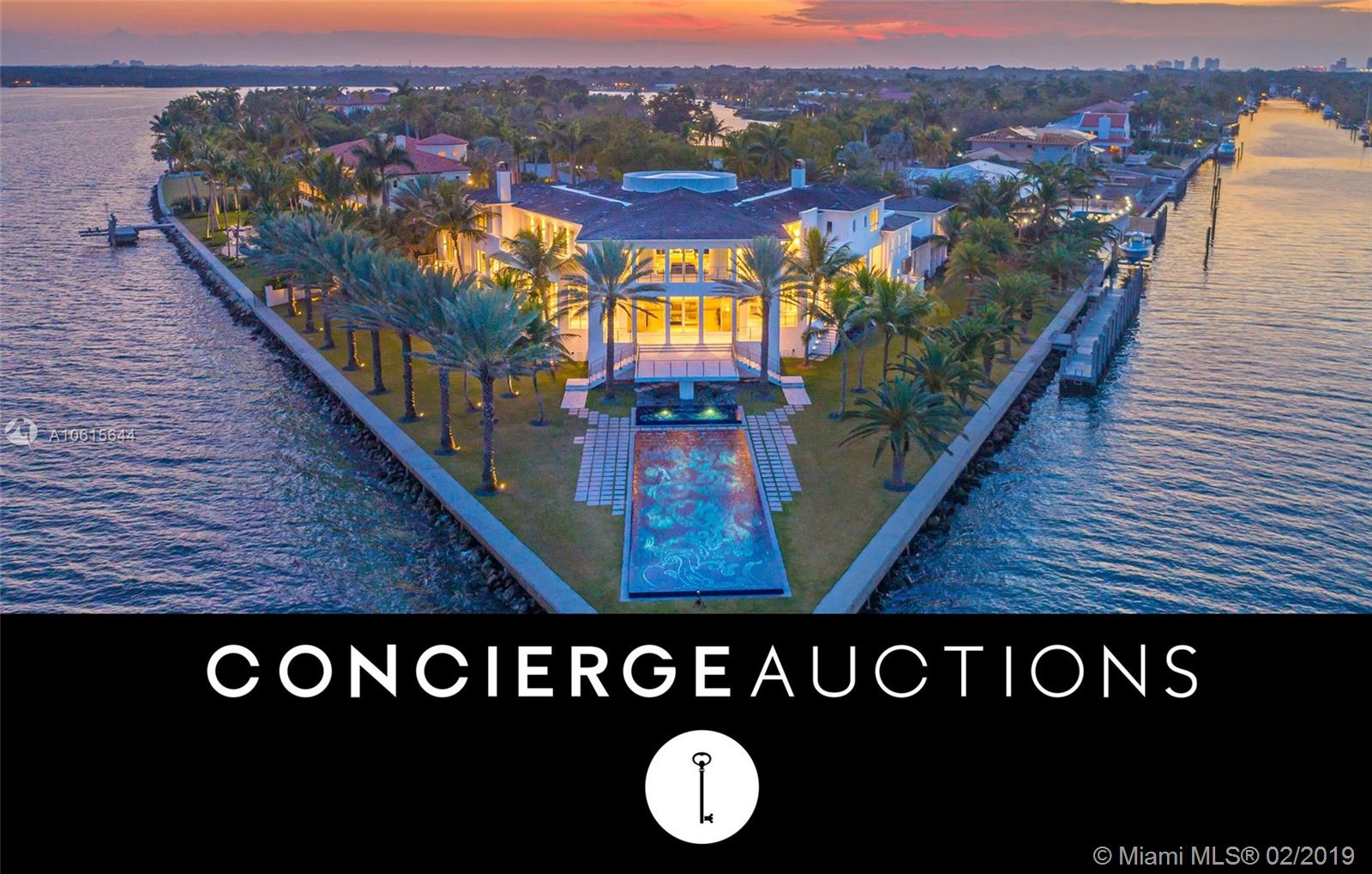 Auction. Bid 3/19-3/22. Currently $68M. Selling Without Reserve. Showings Daily 1-4Pm Est By Appointment. Preview Event 2/26 4-7 Pm Est. Beyond The Contemporary Gates Rests A Waterfront Oasis, A Playground Of Sun-Filled Days And Glamorous Nights. Imagine Glittering Formal Galas Spilling From The Magnificent Chandelier-Lit Foyer To The Sleek Interior Bar And Beyond To Expansive Waterfront Terraces Overlooking Biscayne Bay To The Atlantic Ocean. At The Point Of The Estate With Water On Two Sides, 41 Arvida Parkway Is A Stunning Location Upon Which To Host Magnificent Sunset Alfresco Cocktails And Poolside Soir+Â-¬Es Beside Estudio Arqu+Â-¬ Designed Pool. Surrounded By 574 Feet Of Water With A Private Dock On A Canal Nearest Biscayne Bay, The Largest Of Yachts May Be At Sea In Only Minutes.