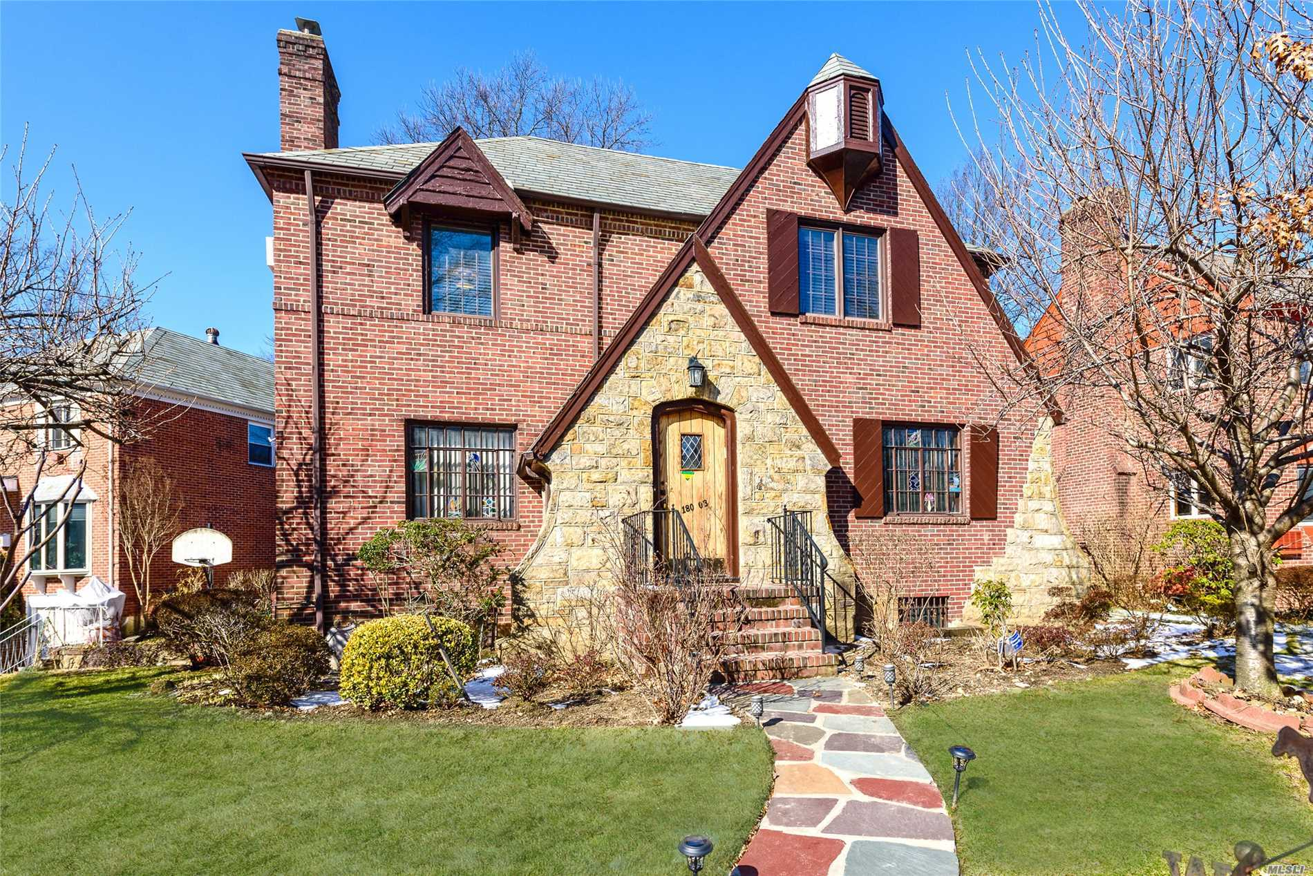 Jamaica Estates. Breathtaking Tudor Colonial One Family Home With So Much Charm & Warmth. Located In The Heart Of Jamaica Estates. Huge 5 Bedrooms, 3 Full Baths, Including A Master Bath In The Master Bedroom. Formal Dining Room, 2 Fireplaces, Huge Living Room, Den, 2-Car Garage. Large Backyard, Ample Closet Space And Lots Of Light.