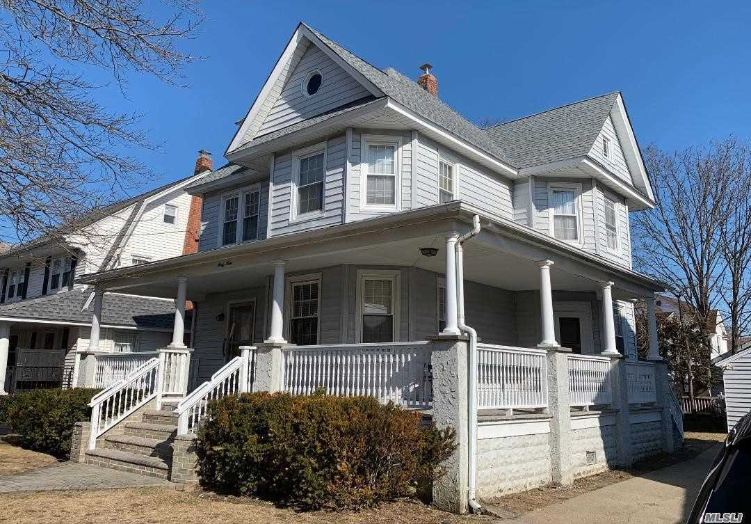 A Beautiful Victorian Home In Lynbrook S.D.#20. Retains The Detail And Woodwork From An Era Long Ago, Including Wainscotting In The Kitchen. Charming, Strong And Well Maintained,  With A Complete Wrap Around Porch. A True Home!!! New Roof done in 2018. New Boiler and hot water tank installed in March 2019.