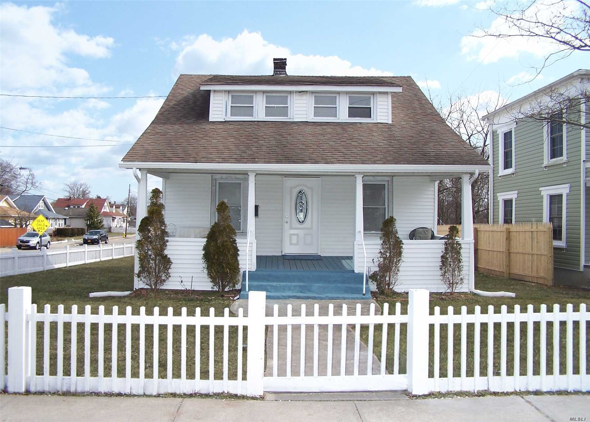 Location .. Location...Fantastic Cape In The Heart Of Patchogue Totally Redone Feature Lv, Brand New Kitchen With Top Of The Line Appliances Master Bed In The First Floor, Total 4 Bed 2 Full Bath, Outside Full Basement/P/M Schools /No Village Taxes, Walk To A Beautiful Town & Restaurants& Bay. Must See !!