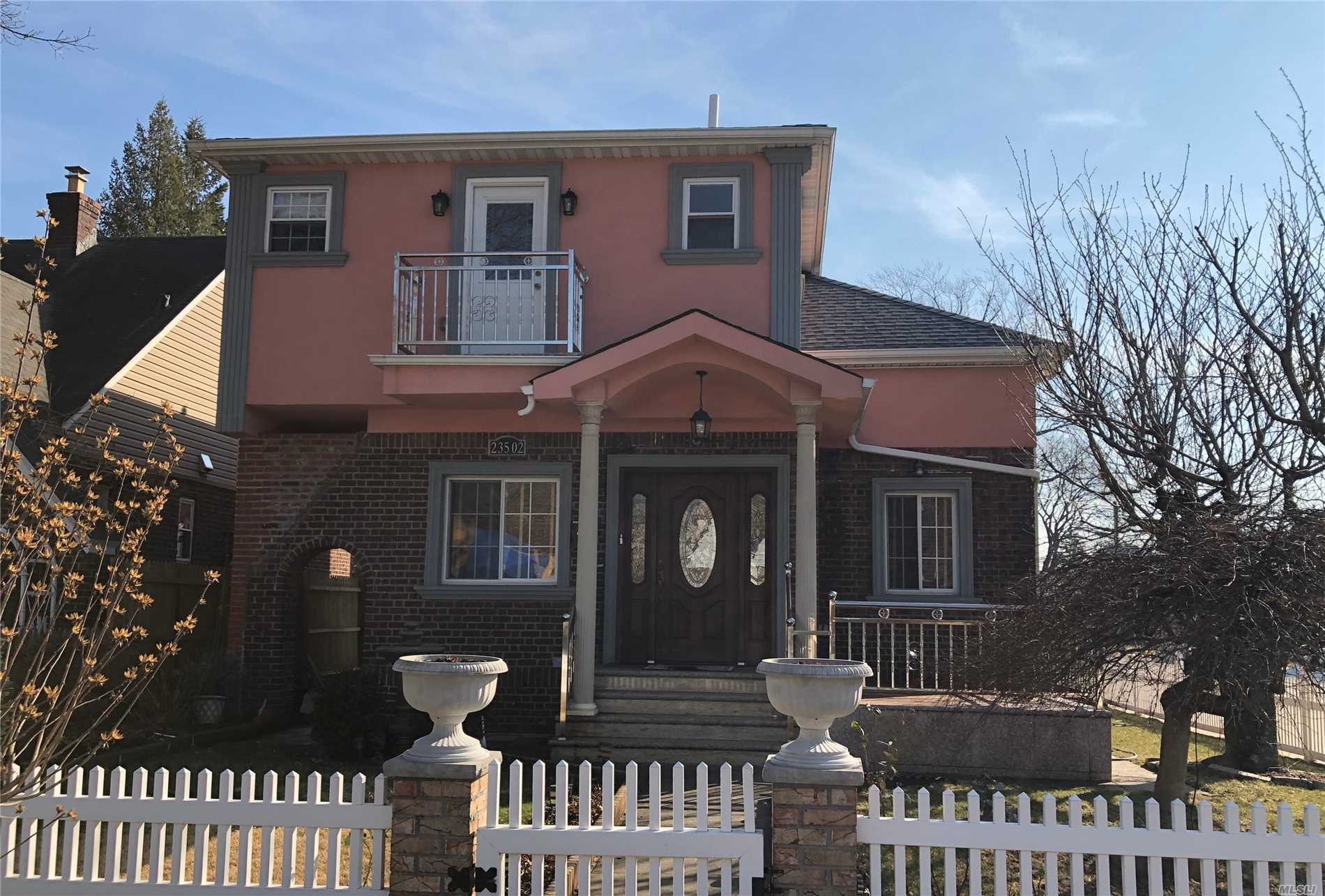 Home Sweet Home. This Lovely Detached Colonial House Sets On The Heart Of Bellerose Manor. Fully Renovated From Top To Bottom. Open Floor Plan. Central Ac, Master Suite.Full Finished Basement. Garage,  Beautiful Front, Back Yard And Much More
