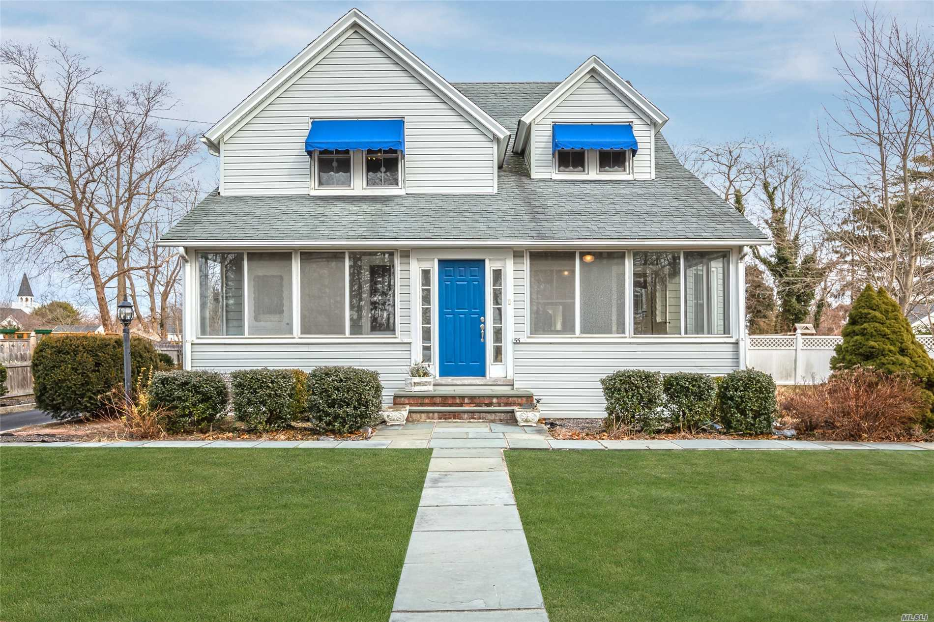 Charming Older Home South Of Montauk In The Quaint Town Of West Sayville. This Home Offers A Three Season Front Porch, Redone Kitchen With All New Appliances, Wood Floors, Detached Two Car Garage, Bluestone Patio, And Nice Size Property. Close To All....Sayville Town, West Sayville Golf Course, Boating, Maritime Museum And Dining On The Water. Sayville School Distirct. Don't Miss!