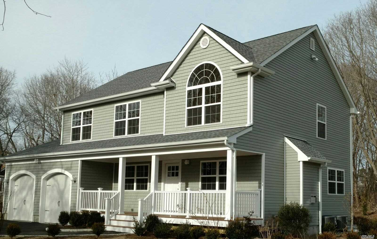 2016 New Construction Custom Colonial. Great Room, Lr, Dr, Modern Stainless Kitchen, 4 Bedrooms, 3 Bathrooms, Fireplace, Cac, Oha Heat, Full Basement, 2 Car Garage, Deck, Nice Landscape, Private.