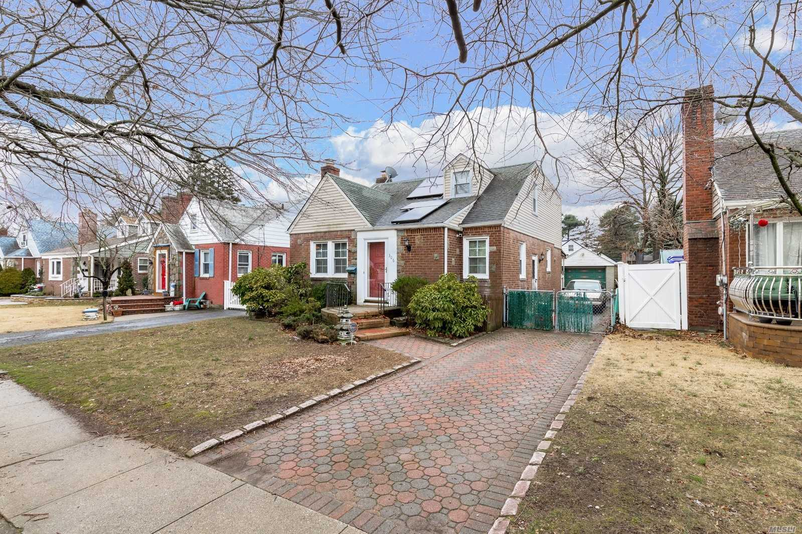 Charming Cape In The Heart Of West Hempstead! Fenced In Yard With Detached Garage. Amazing Pot Belly Stove In Back Room. Gas Cooking, Oil Heat, & Solar Panels! Walking Distance To Houses Of Worship. Close To The Long Island Rail Road And Much Much More!
