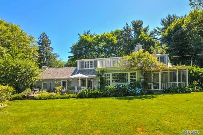 Inviting Farm Ranch Renovated To Perfection Set On 1.5 Acres With Perennial Gardens. Beach And Tennis With Harbor Acres Association.
